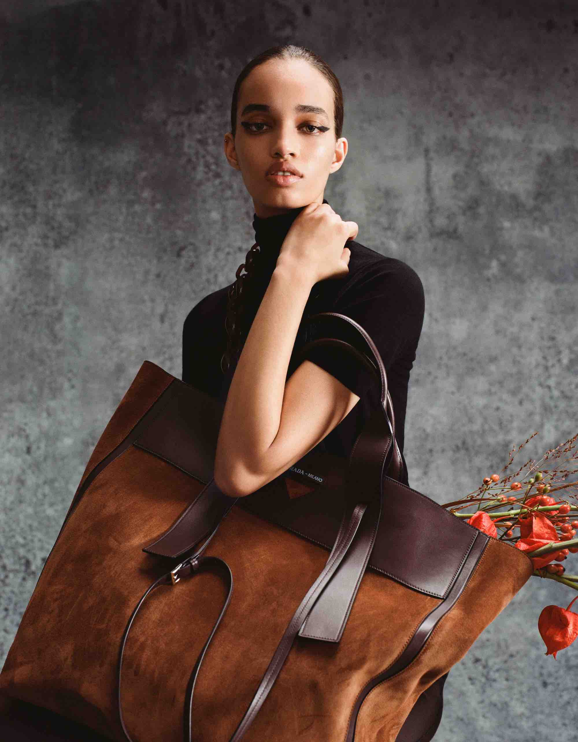 Prada AW18 fashion editorial from magazine tote bag