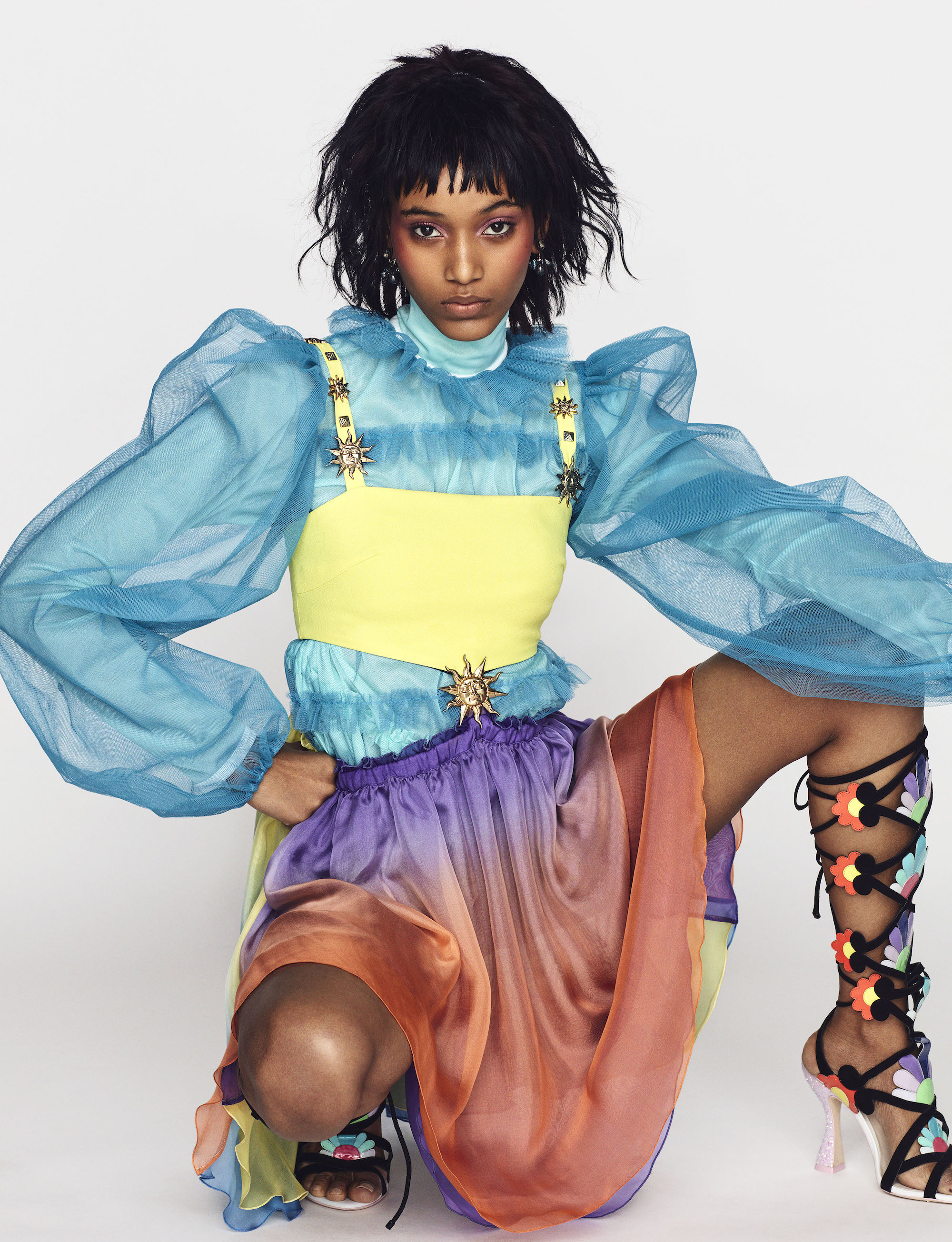 Main fashion editorial in Winter 18/19 issue blue top