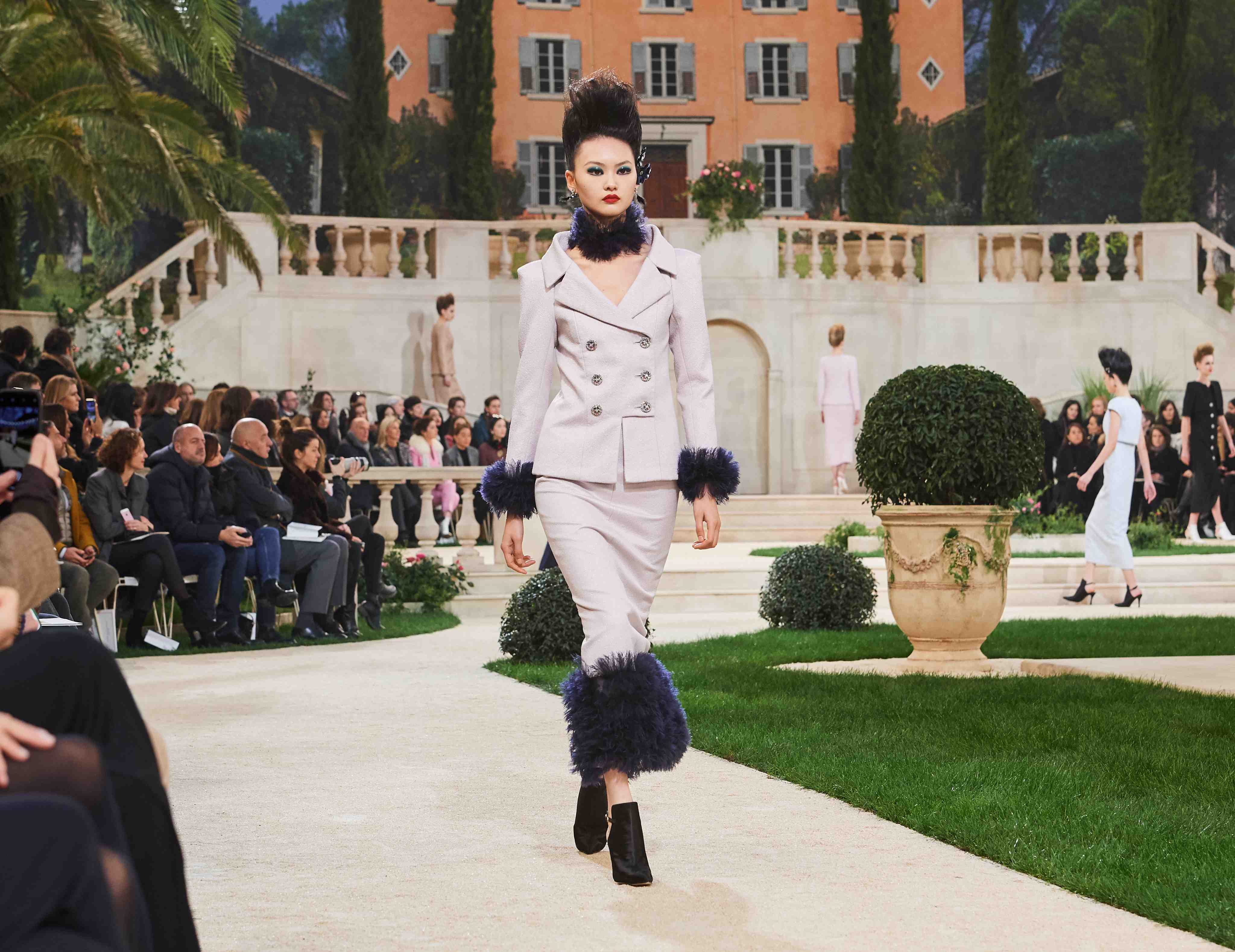 Chanel SS19 Haute Couture fur lined suit
