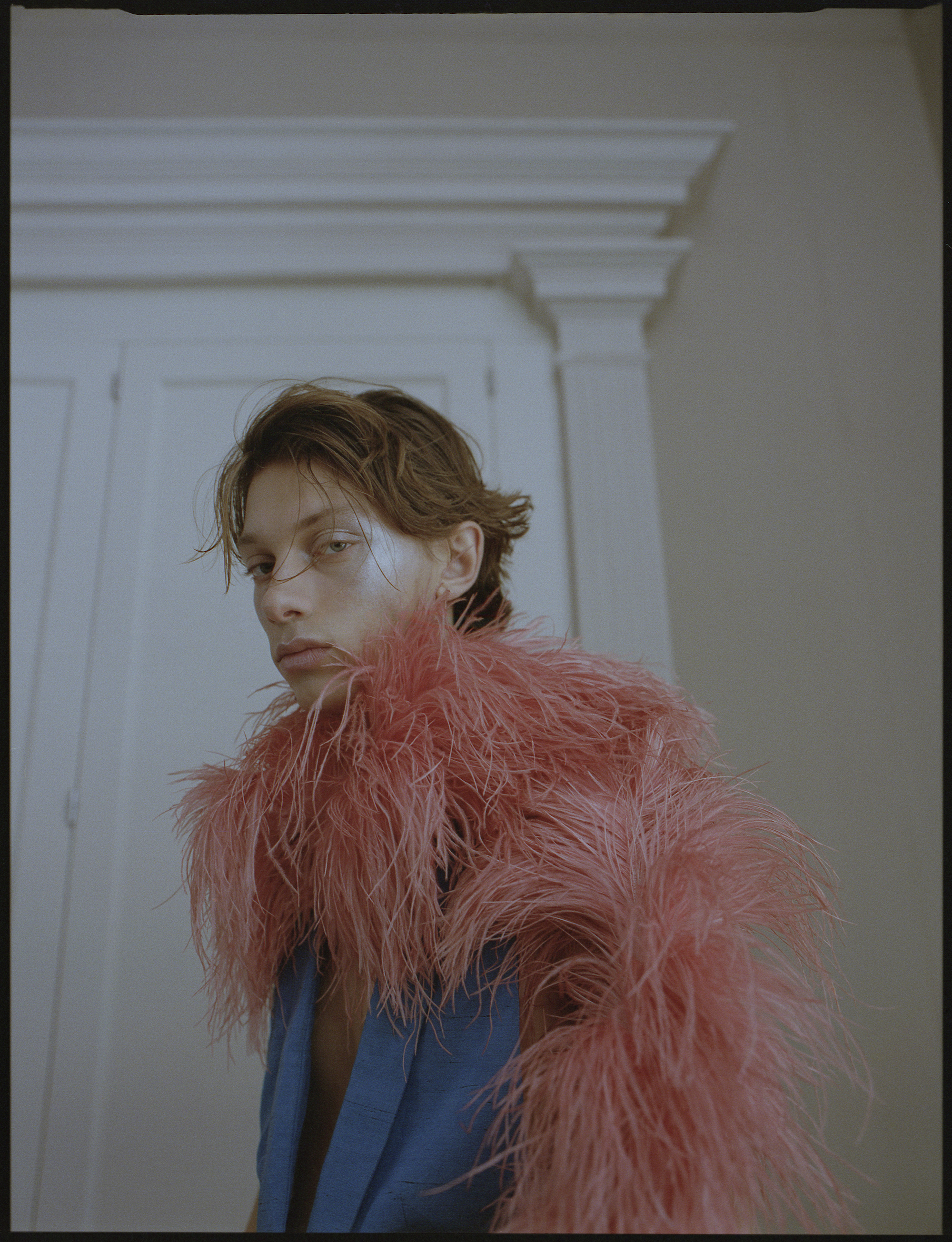 Hall of fame fashion editorial pink fur