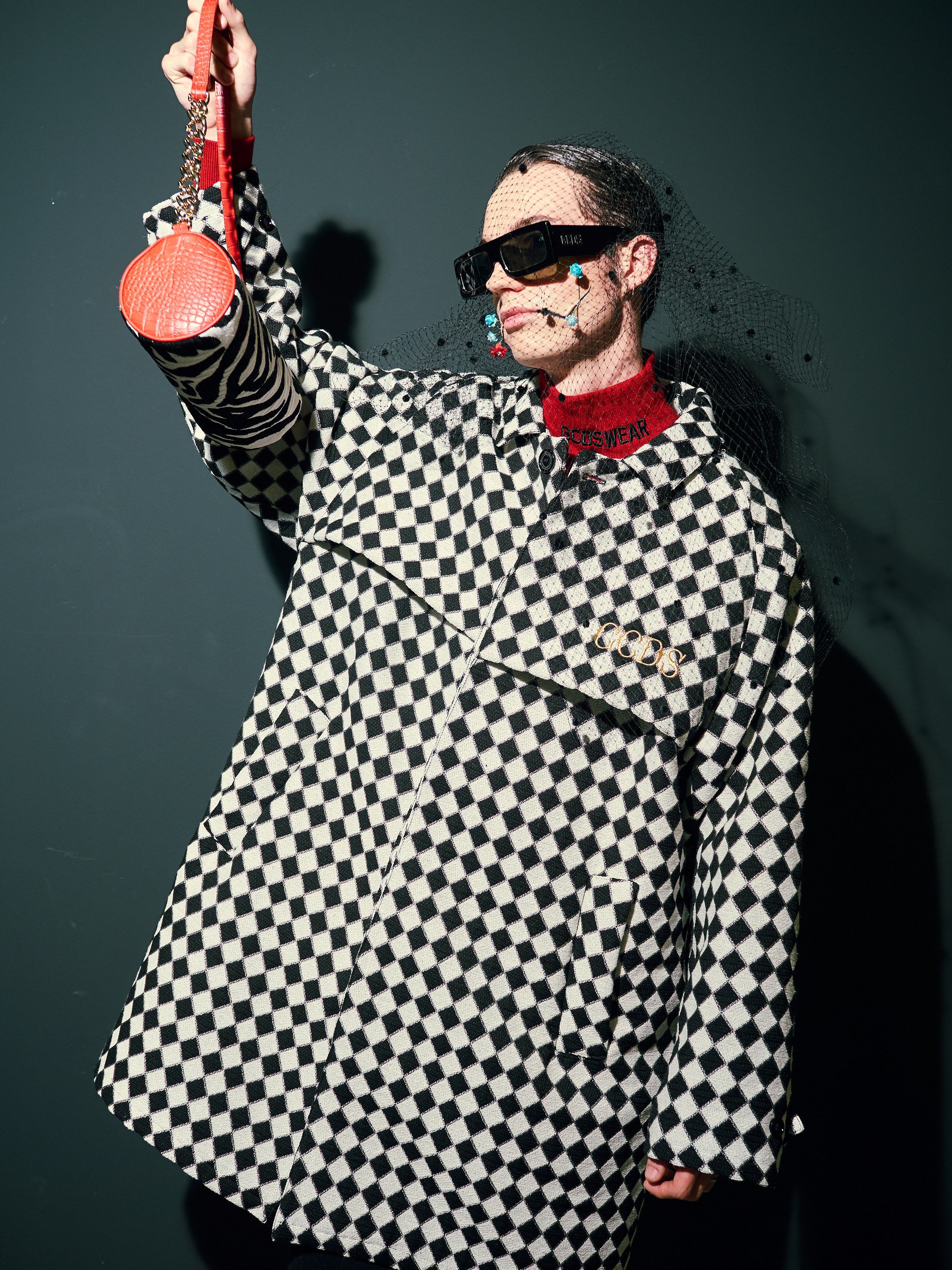 GCDS patterned coat sunglasses AW19
