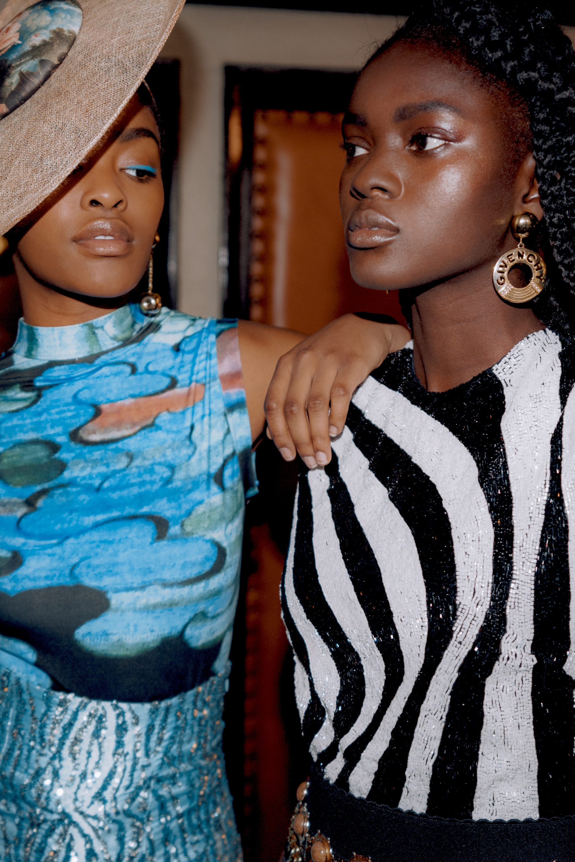 All things bright fashion editorial model in zebra print