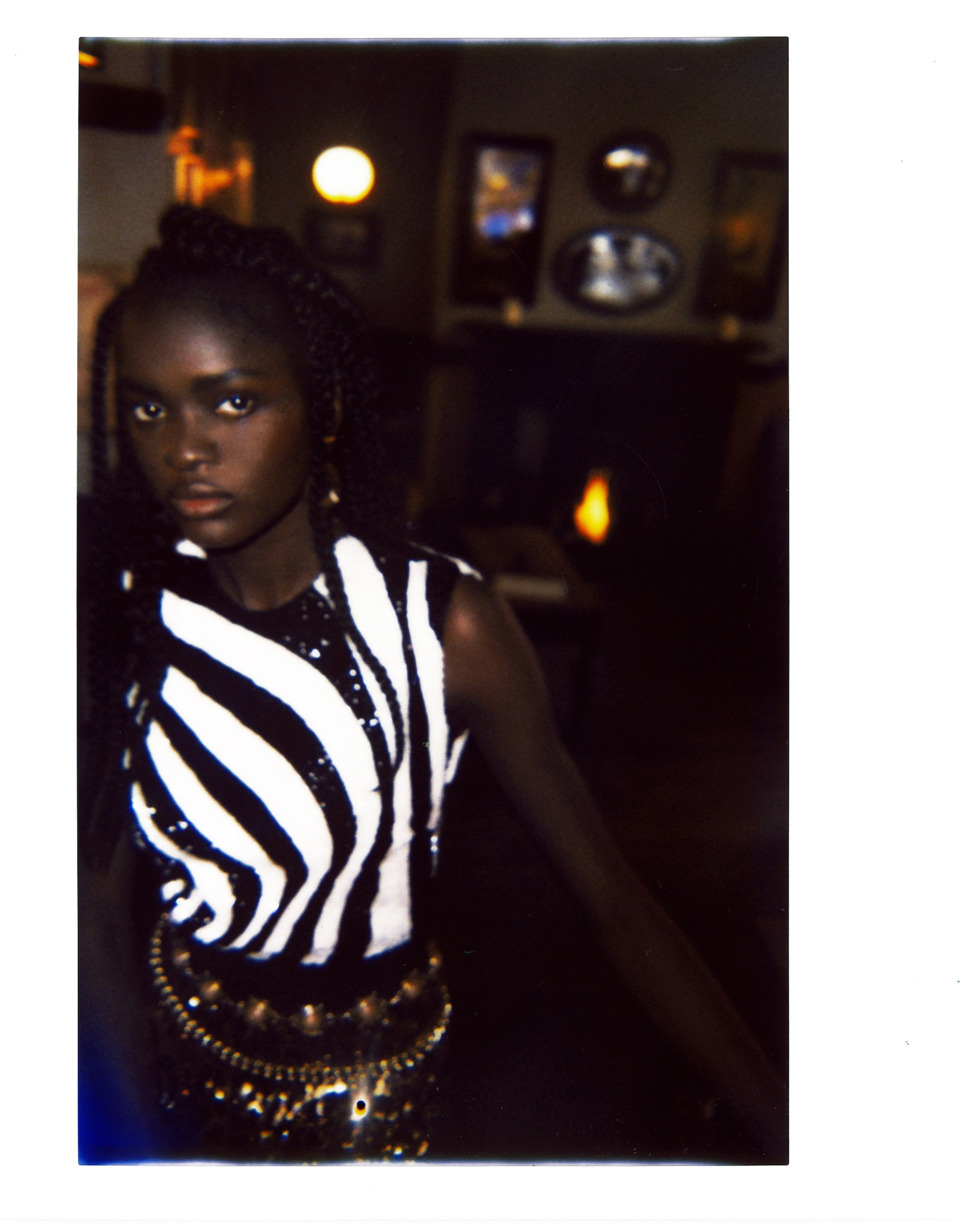 All things bright fashion editorial models in zebra top