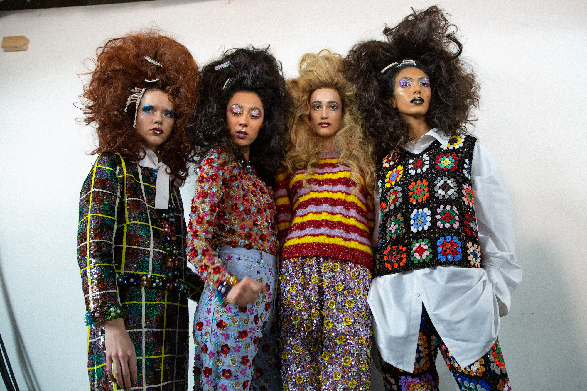 Ashish AW19 for LFW crochet group shot