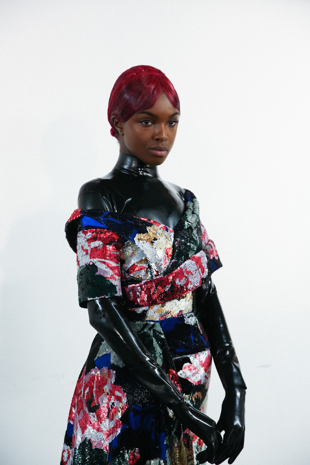 Richard Quinn Aw19 latex gloves LFW