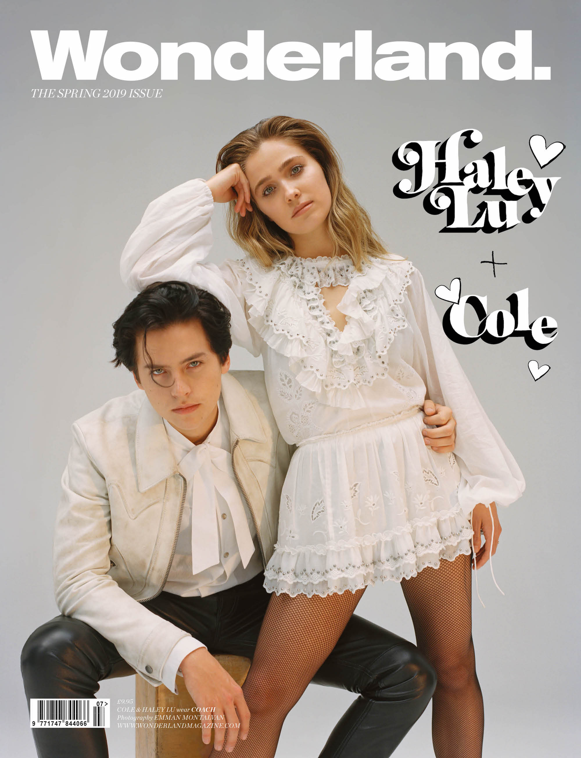 Cole Sprouse and Haley Lu Richardson Wonderland Spring 19 cover