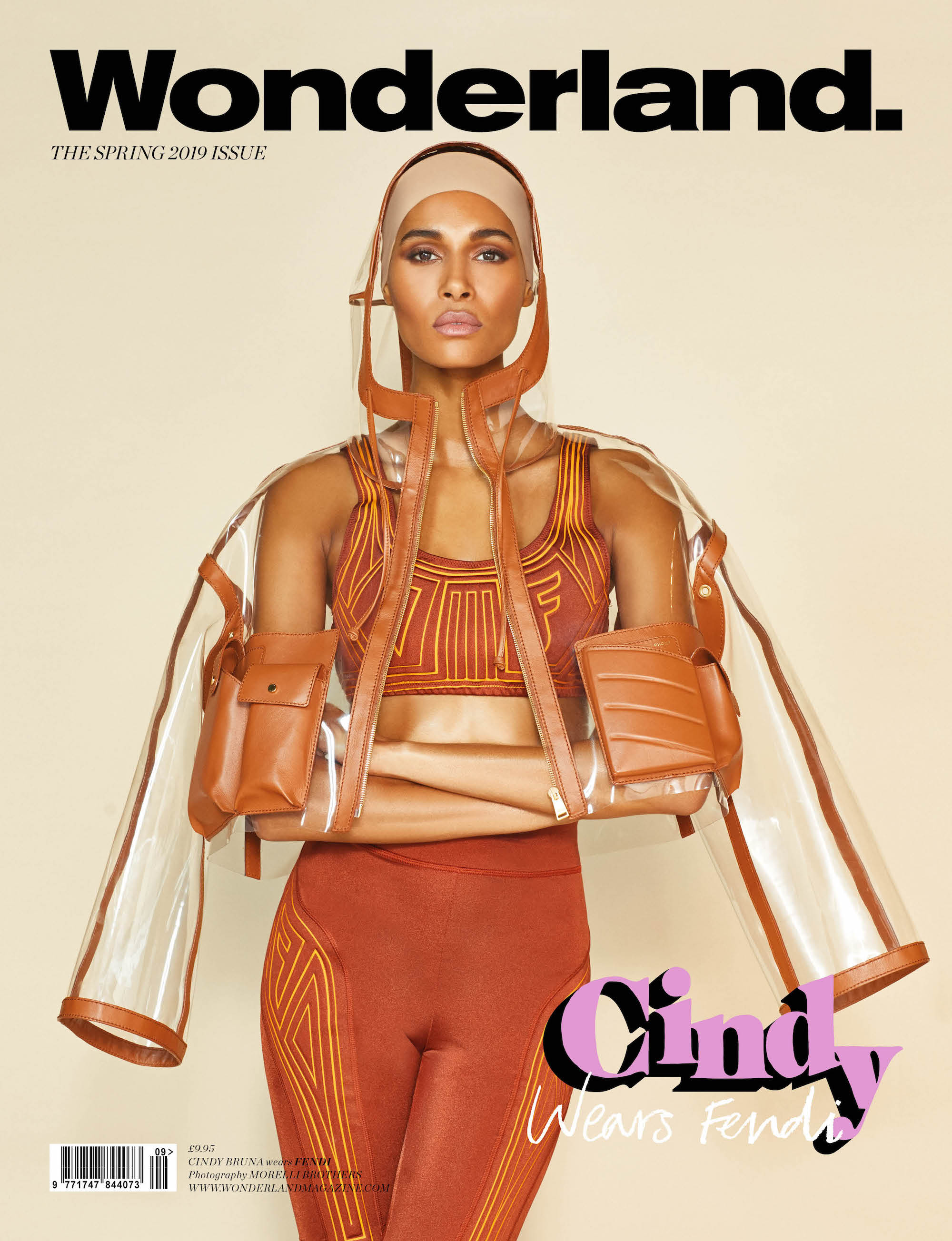 French model Cindy on the digital cover of Wonderland Spring 19 issue