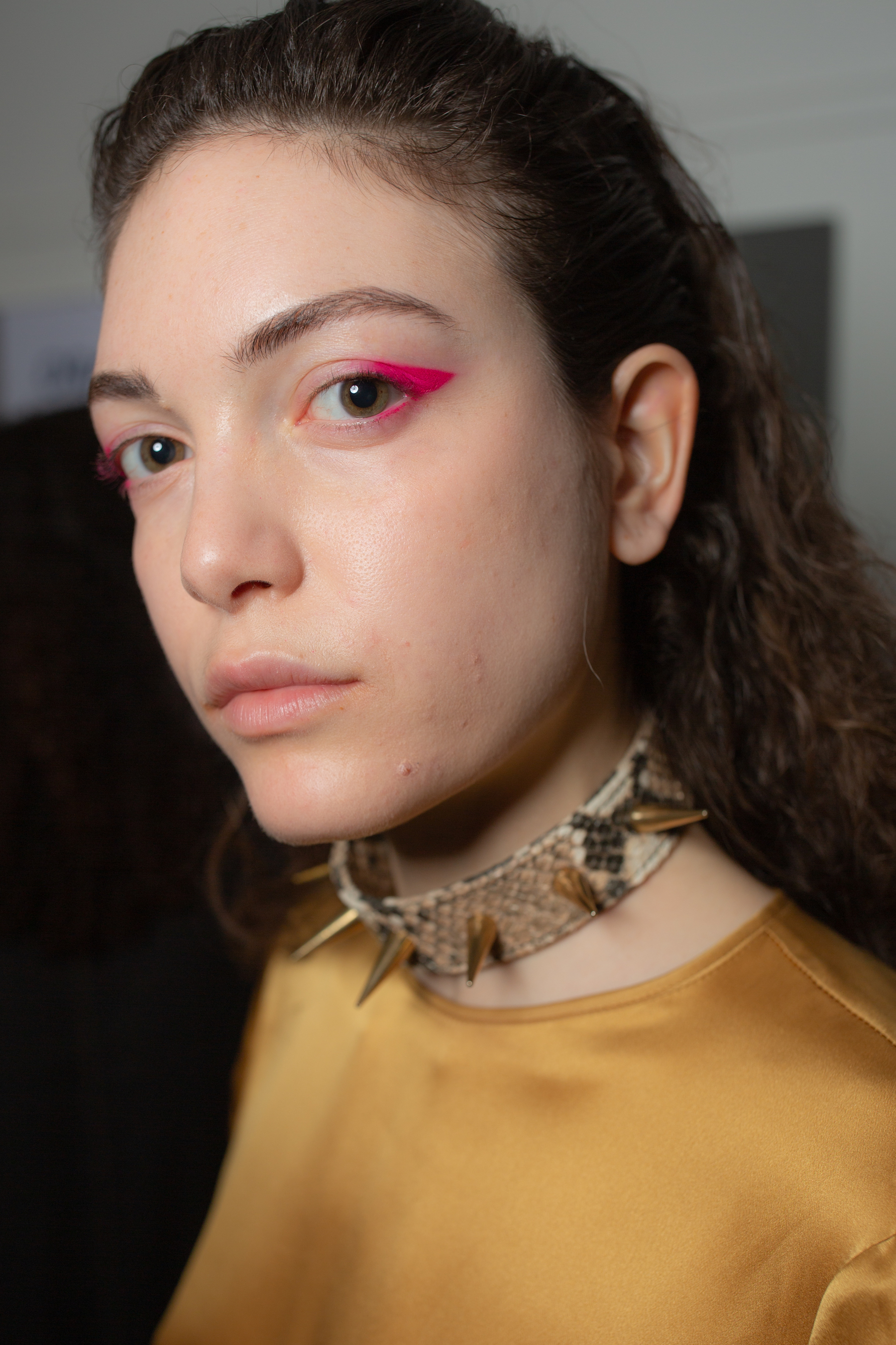 Marques' Almeida AW19 show at Paris Fashion Week spiked collar