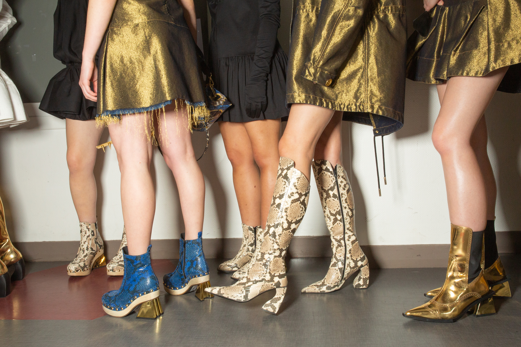 Marques' Almeida AW19 show at Paris Fashion Week boots