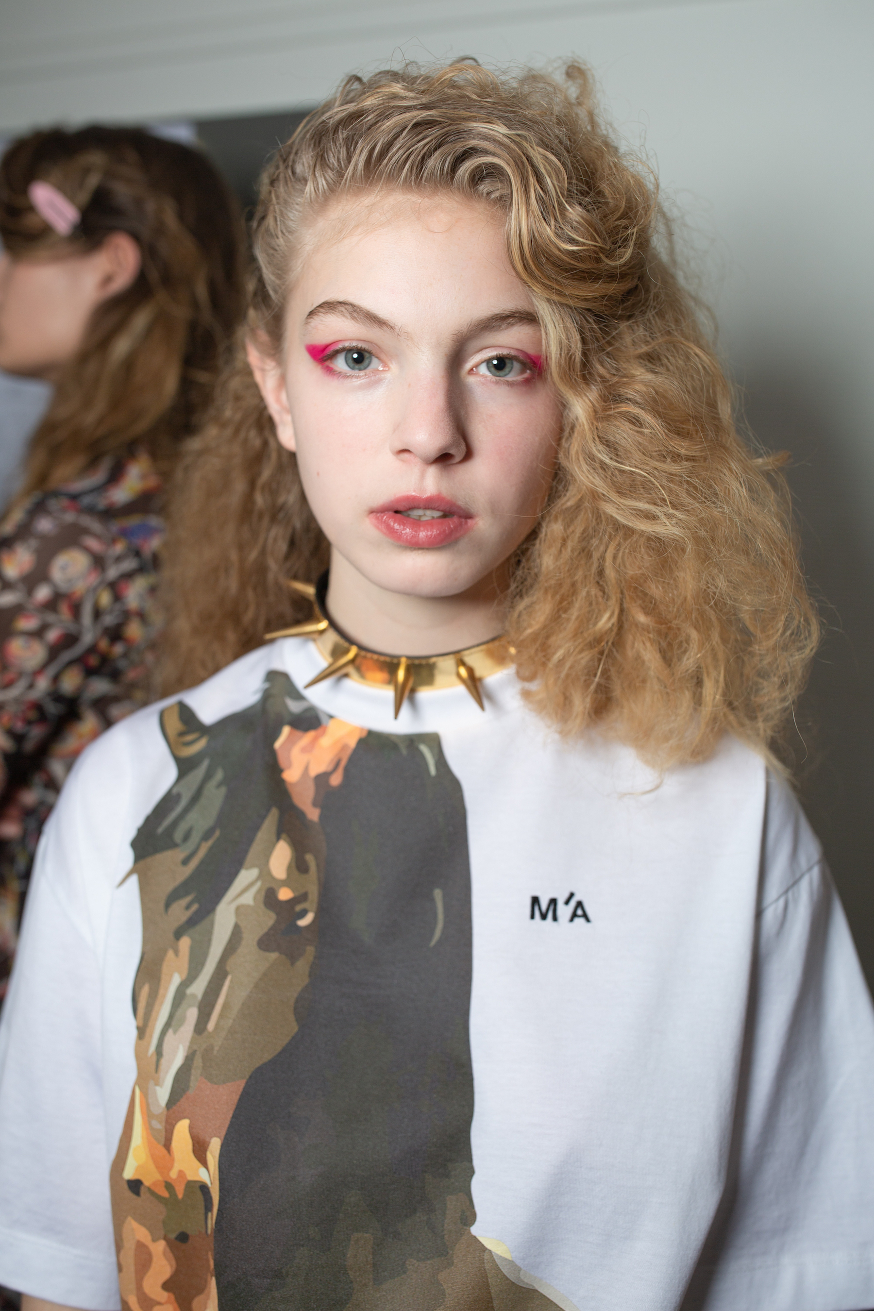 Marques' Almeida AW19 show at Paris Fashion Week horse shirt