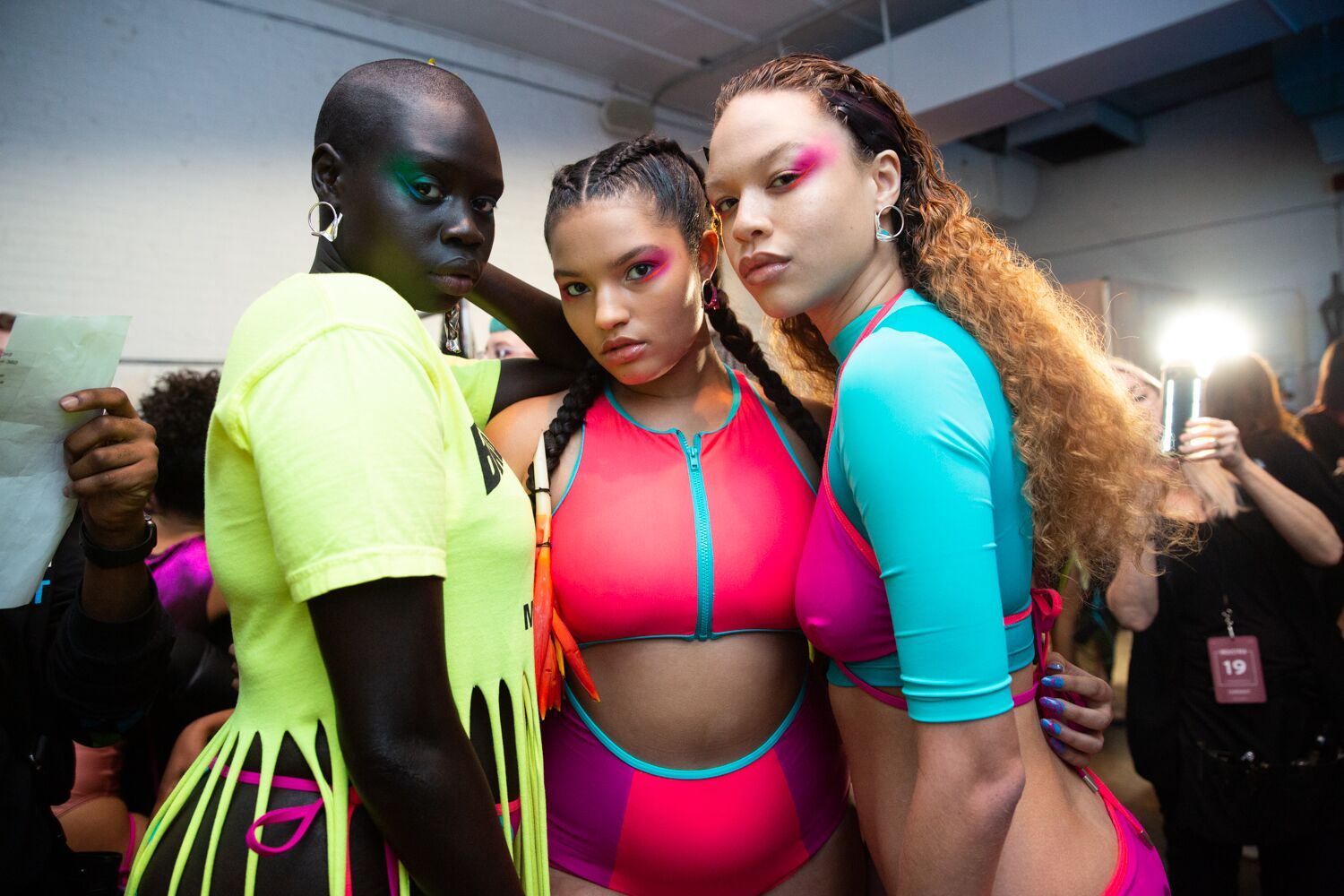 chromat aw19 collection neon nyfw