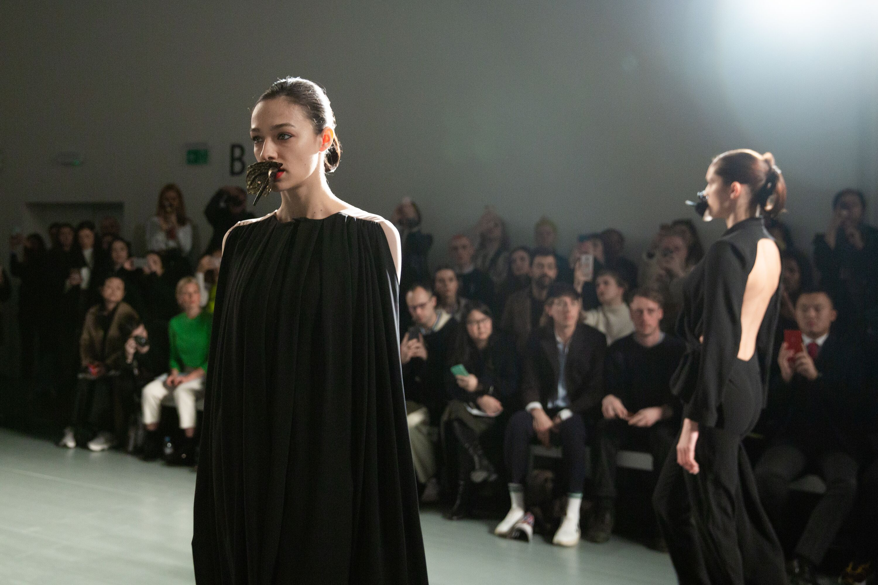 Marta Jakubowski black dress AW19 show London