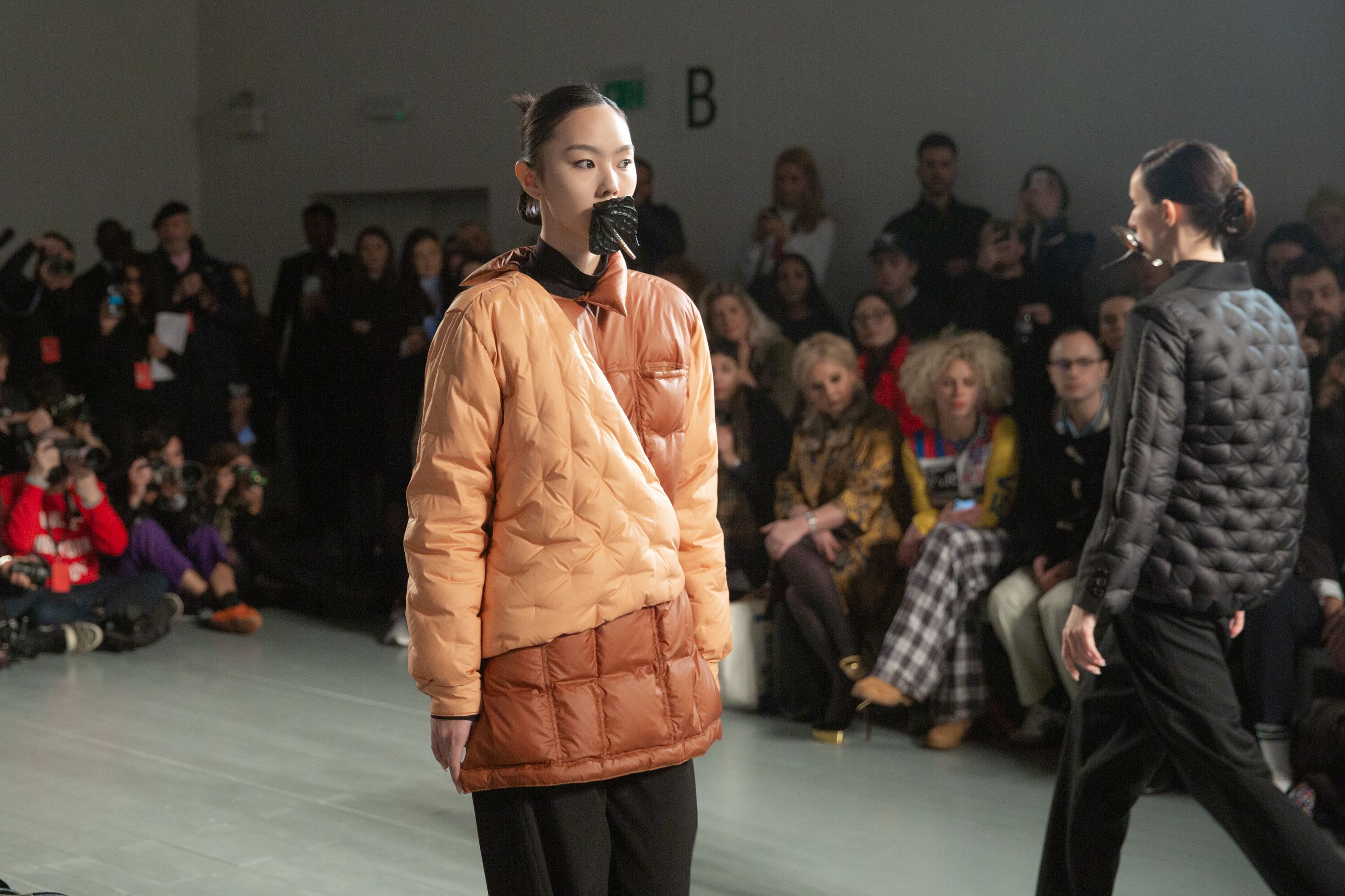 Marta Jakubowski orange quilted puffer jacket AW19