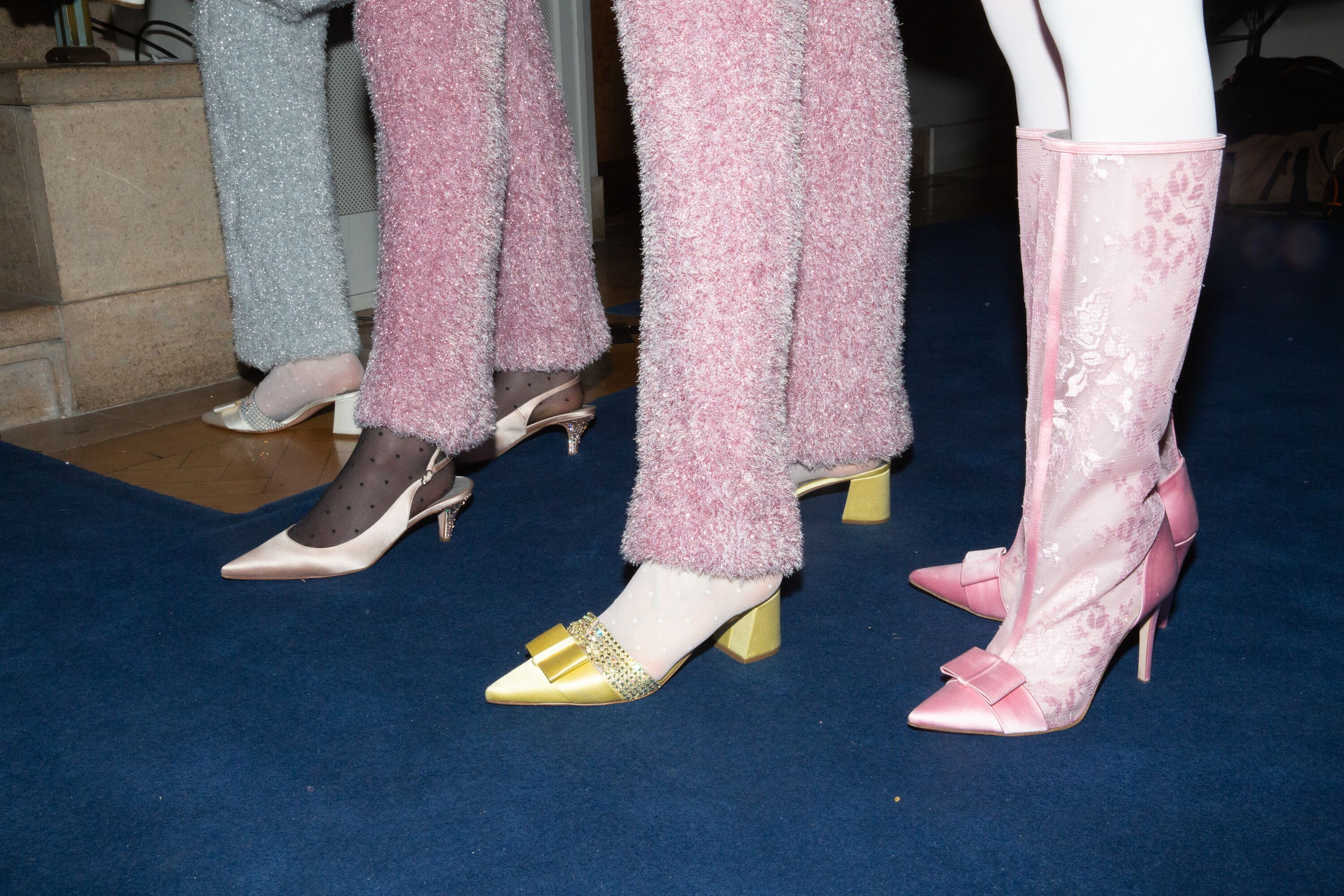Ryan Lowe yellow pastel shoes AW19 LFW
