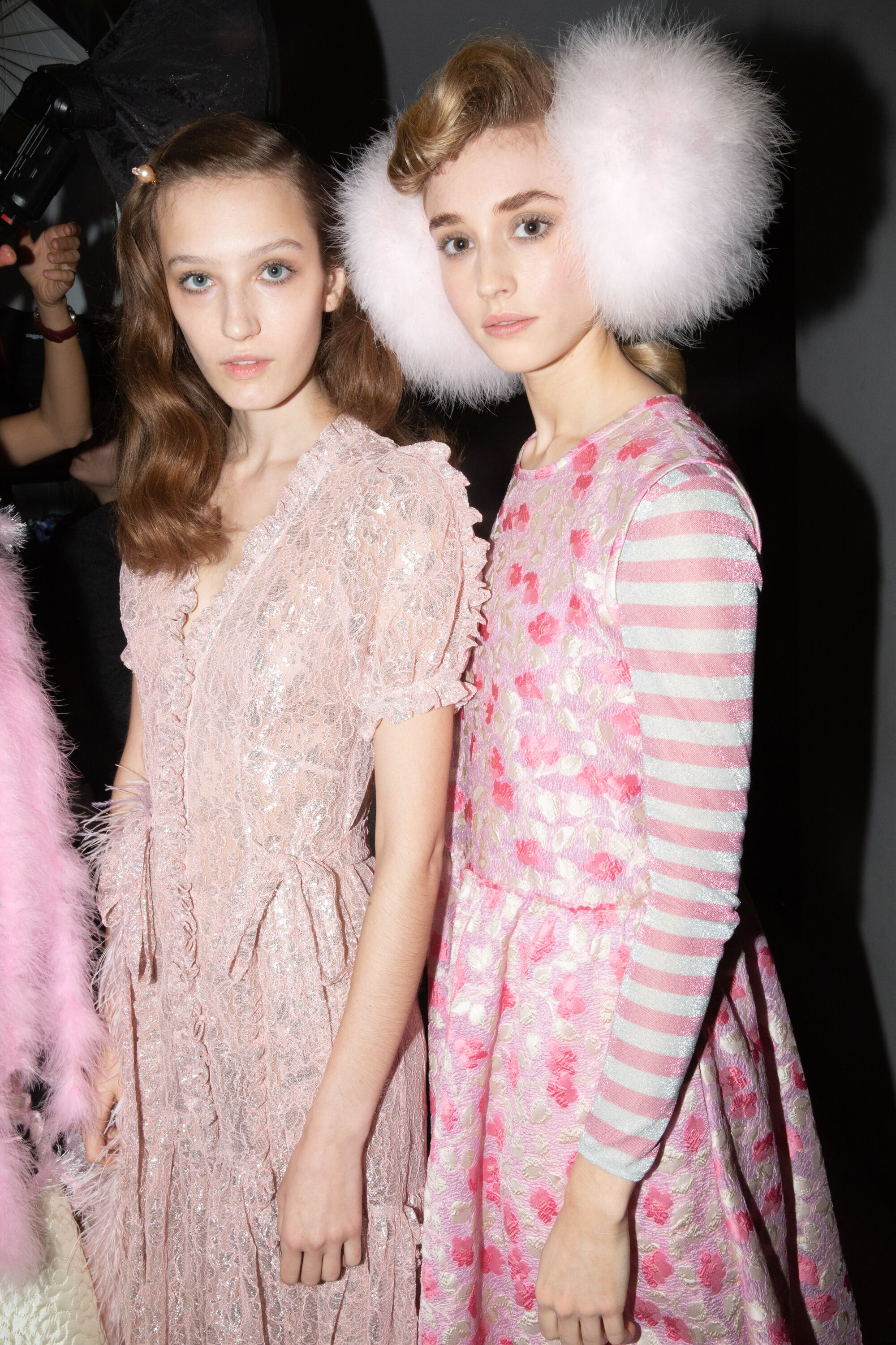 Ryan Lowe pink dress fluffy earmuffs AW19