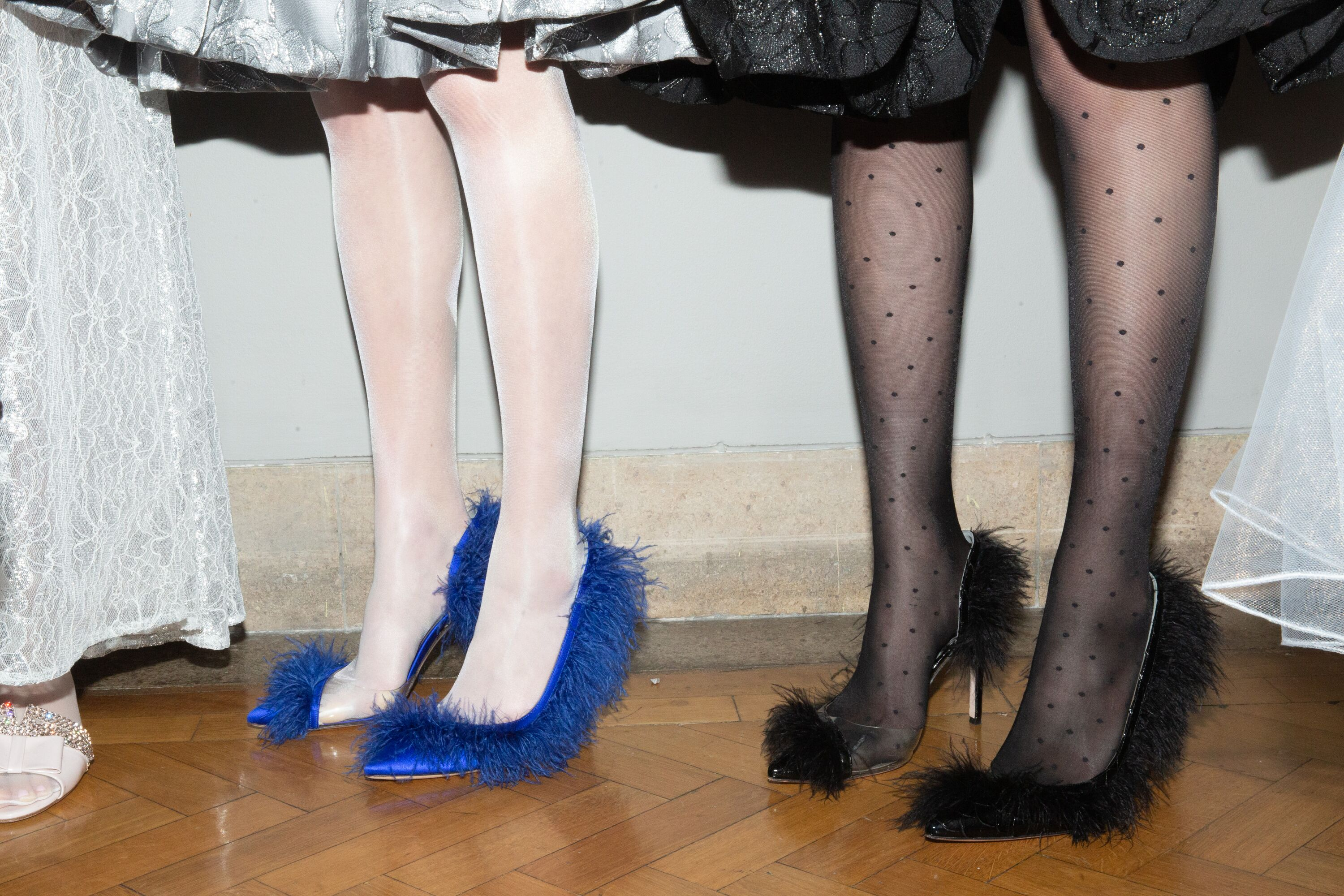 Ryan Lo fluffy shoes AW19 LFW