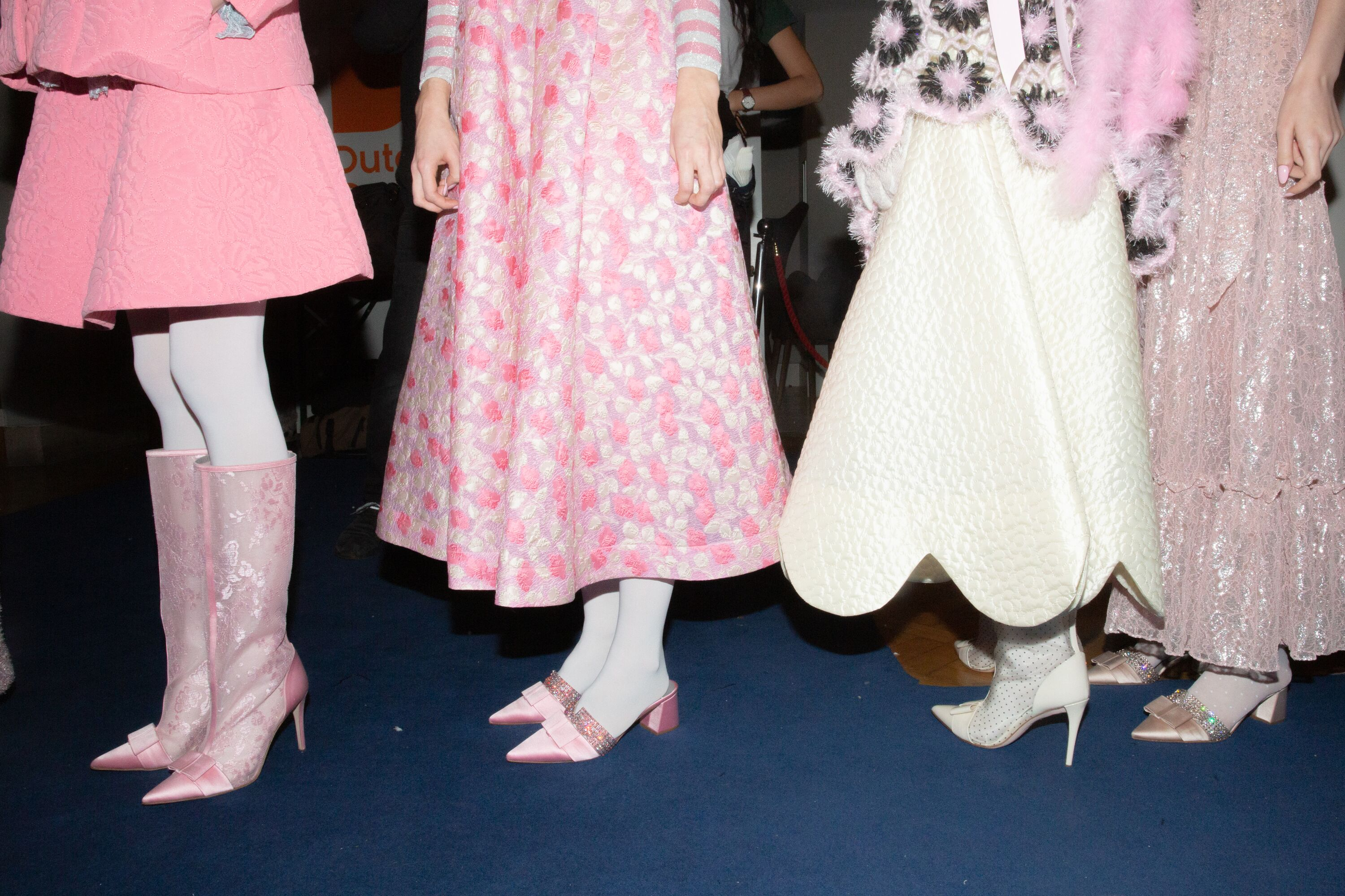 Ryan Lo patterned pink dress pointy embellished shoes AW19