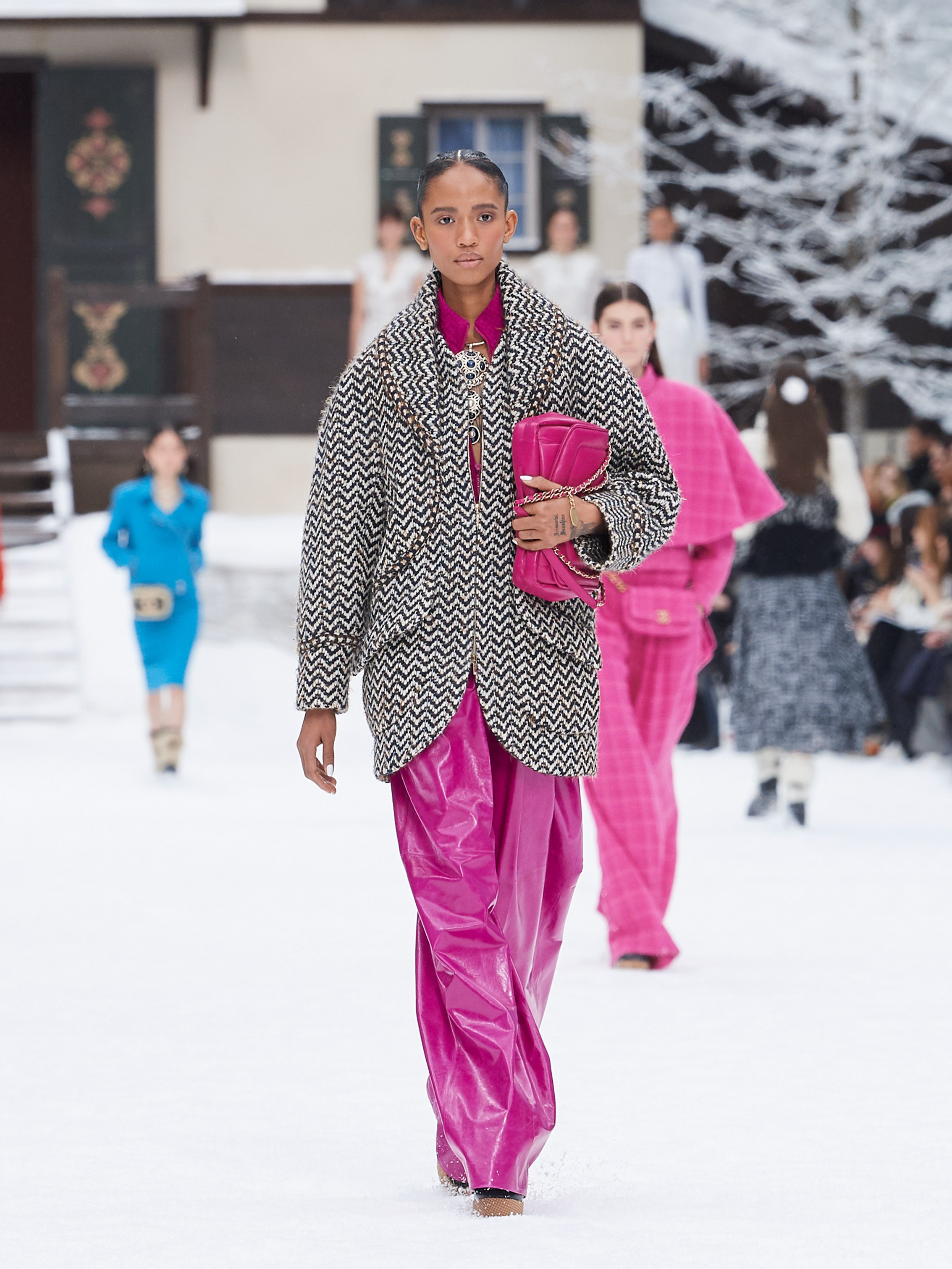 Chanel AW19 Paris Fashion Week pink trousers