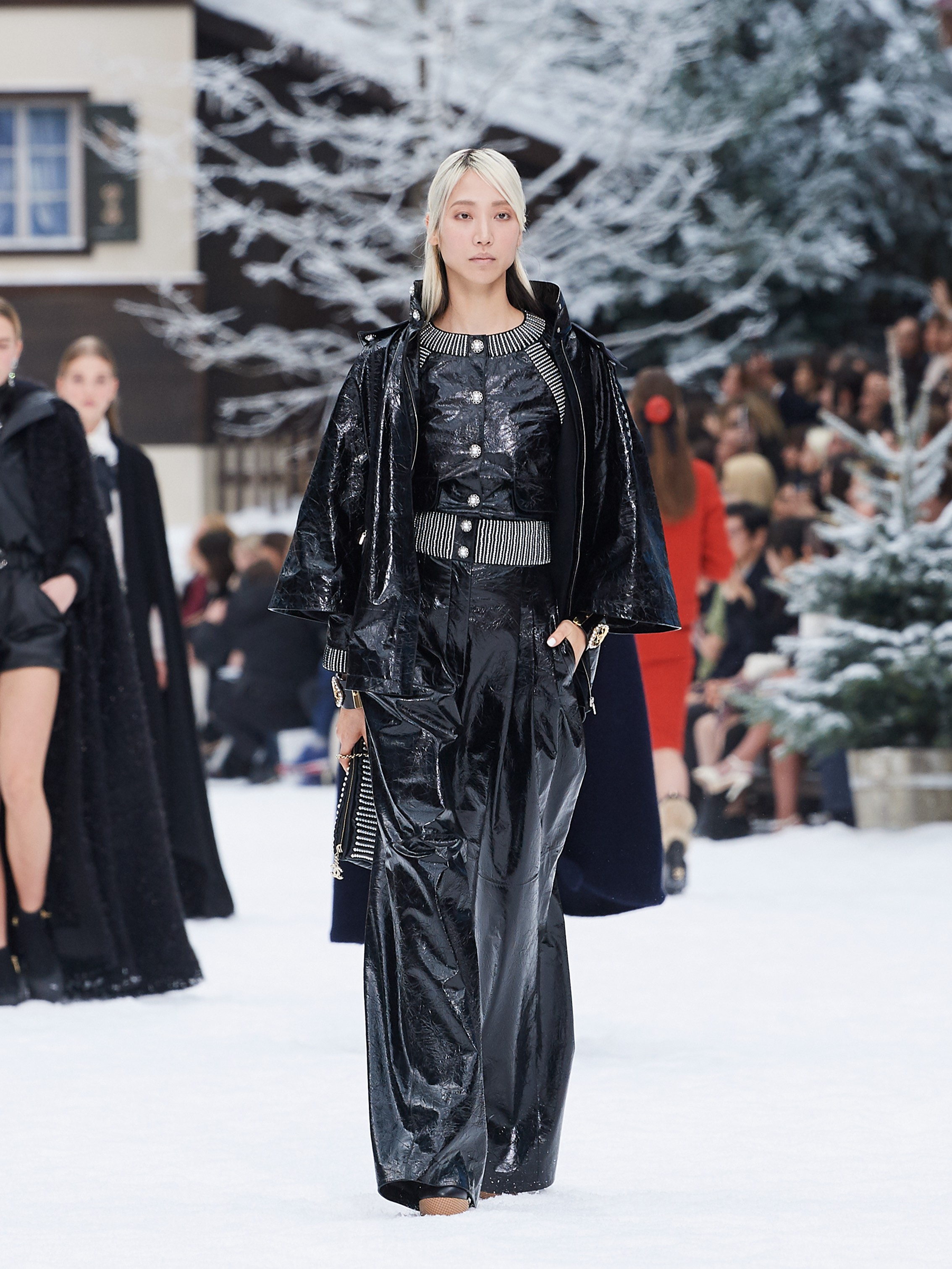 Chanel AW19 Paris Fashion Week black two-piece