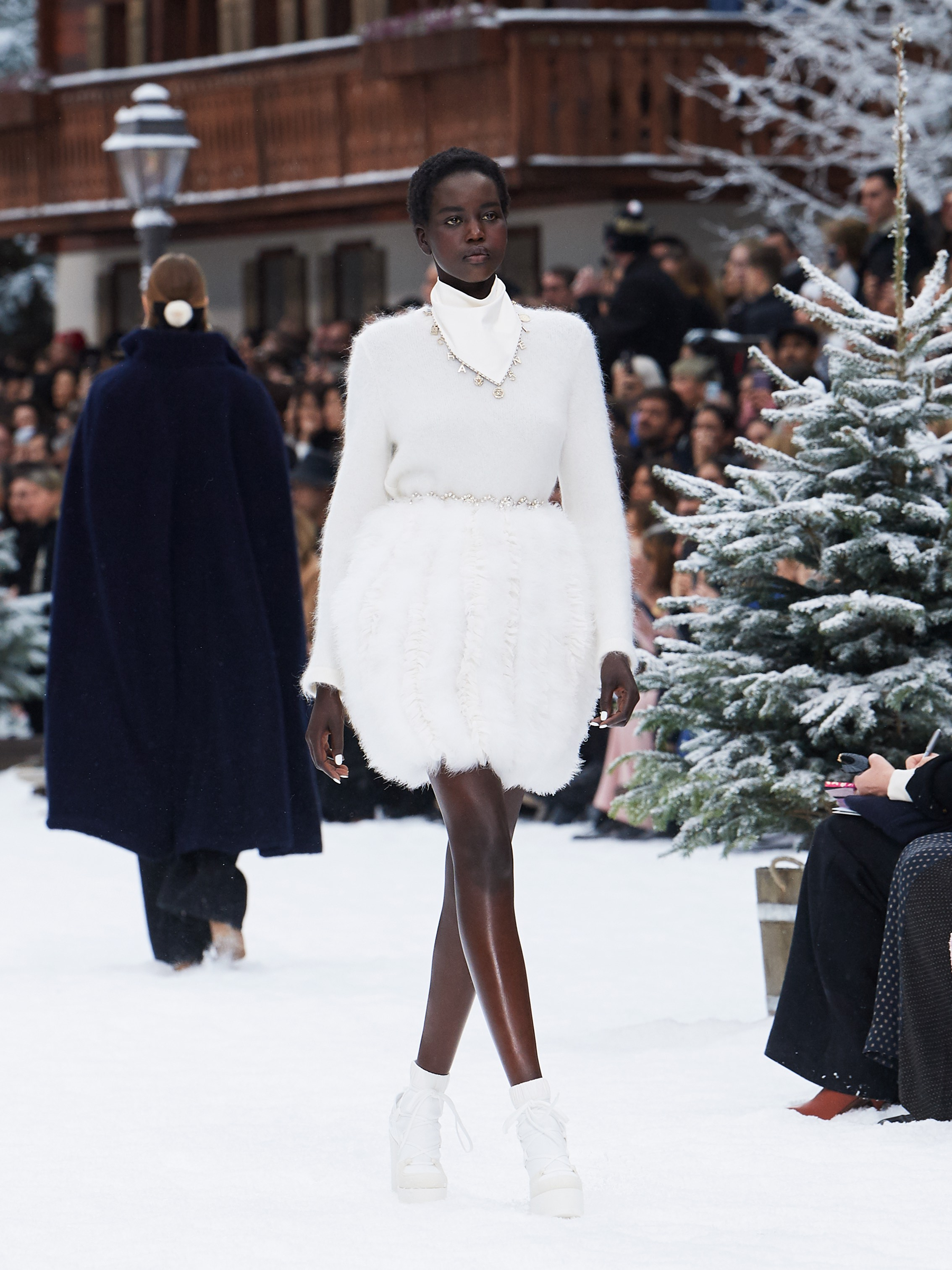 Chanel AW19 Paris Fashion Week white outfit