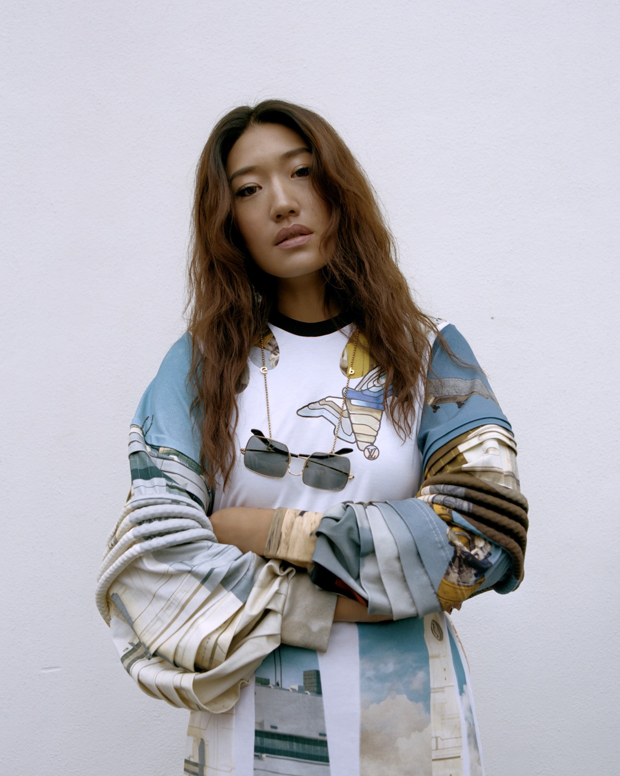 South Korean DJ Peggy Gou on the cover of Rollacoaster Spring/Summer 2019 in sweatshirt