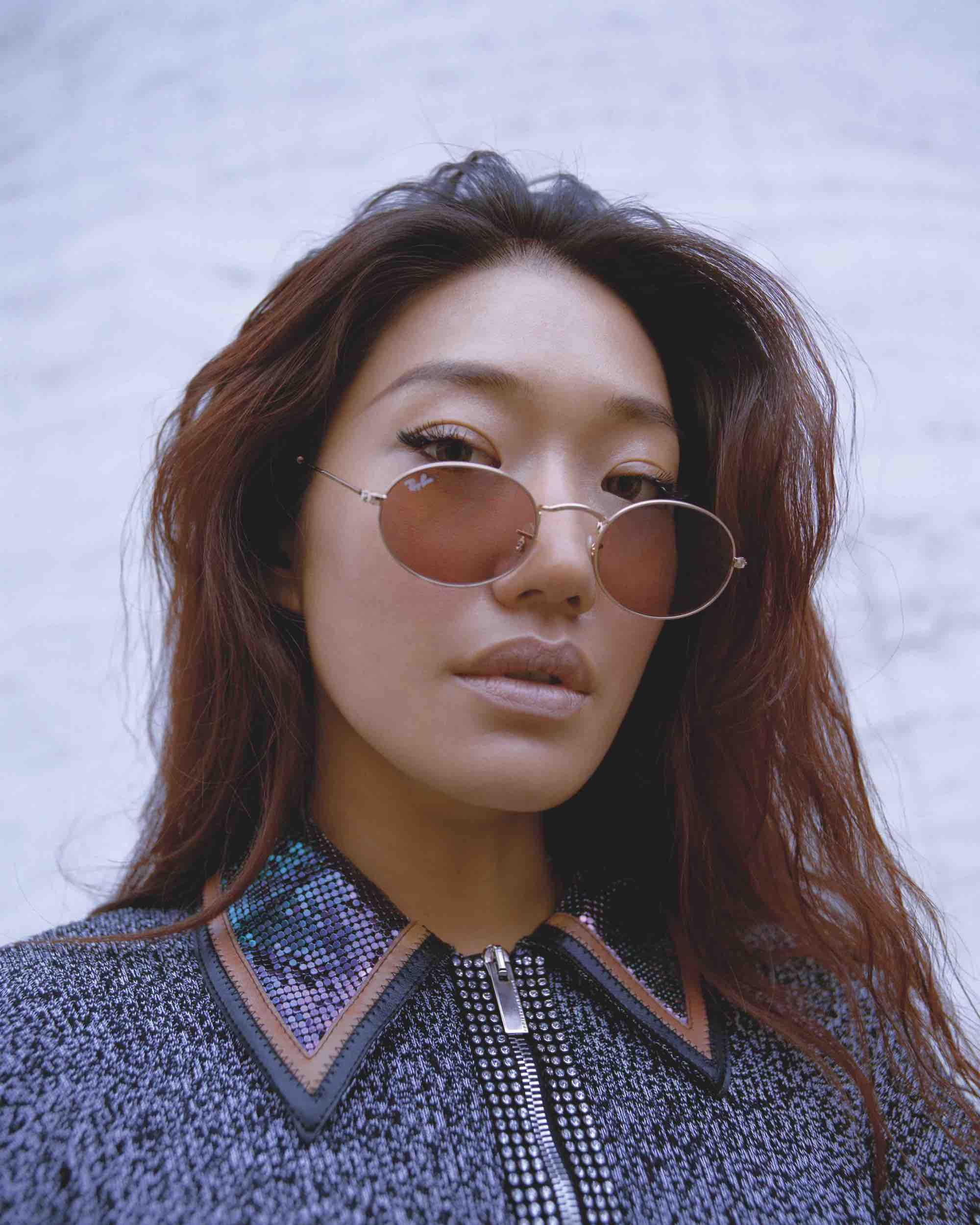 South Korean DJ Peggy Gou on the cover of Rollacoaster Spring/Summer 2019 in collared jacket