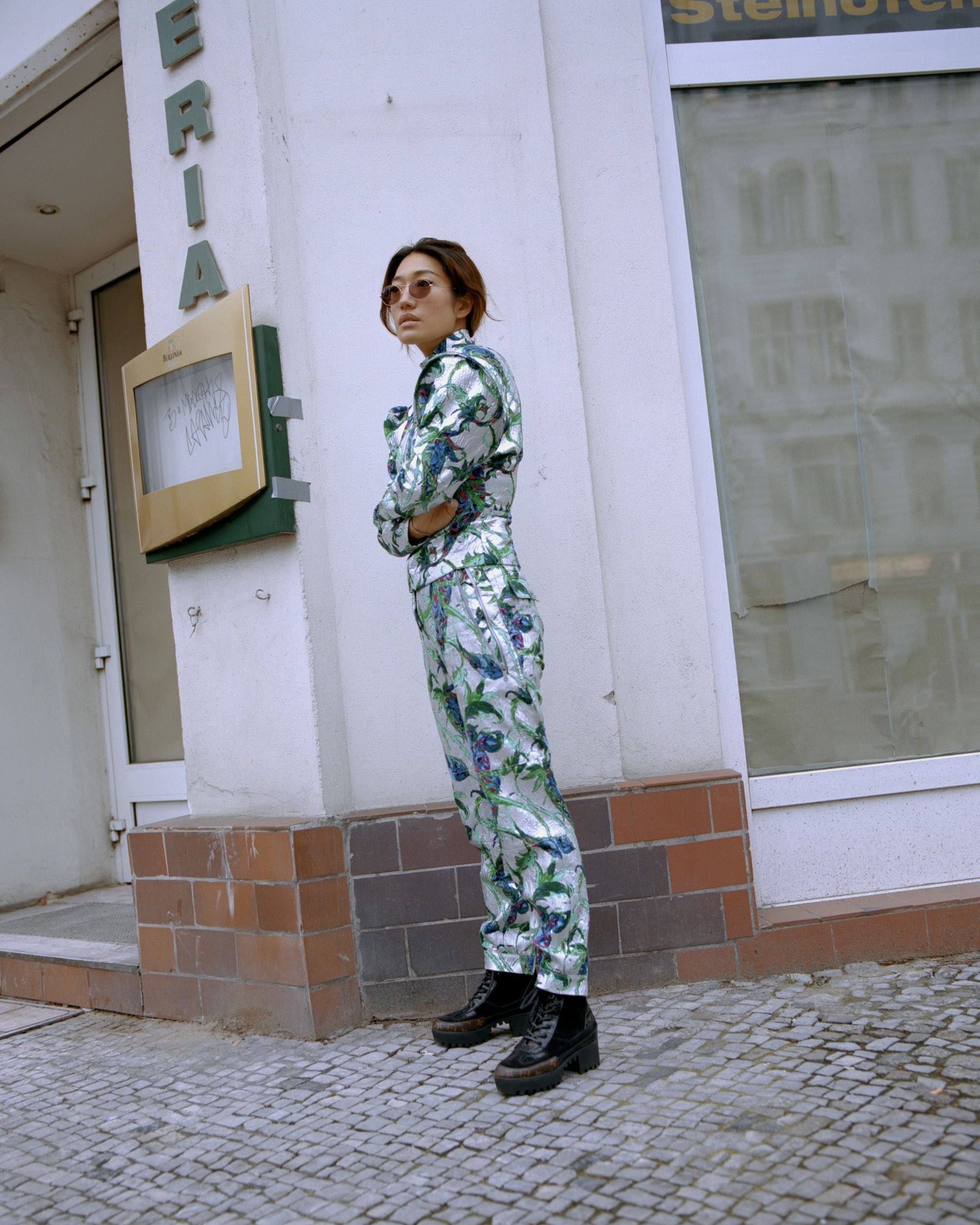 South Korean DJ Peggy Gou on the cover of Rollacoaster Spring/Summer 2019 in foil boilersuit