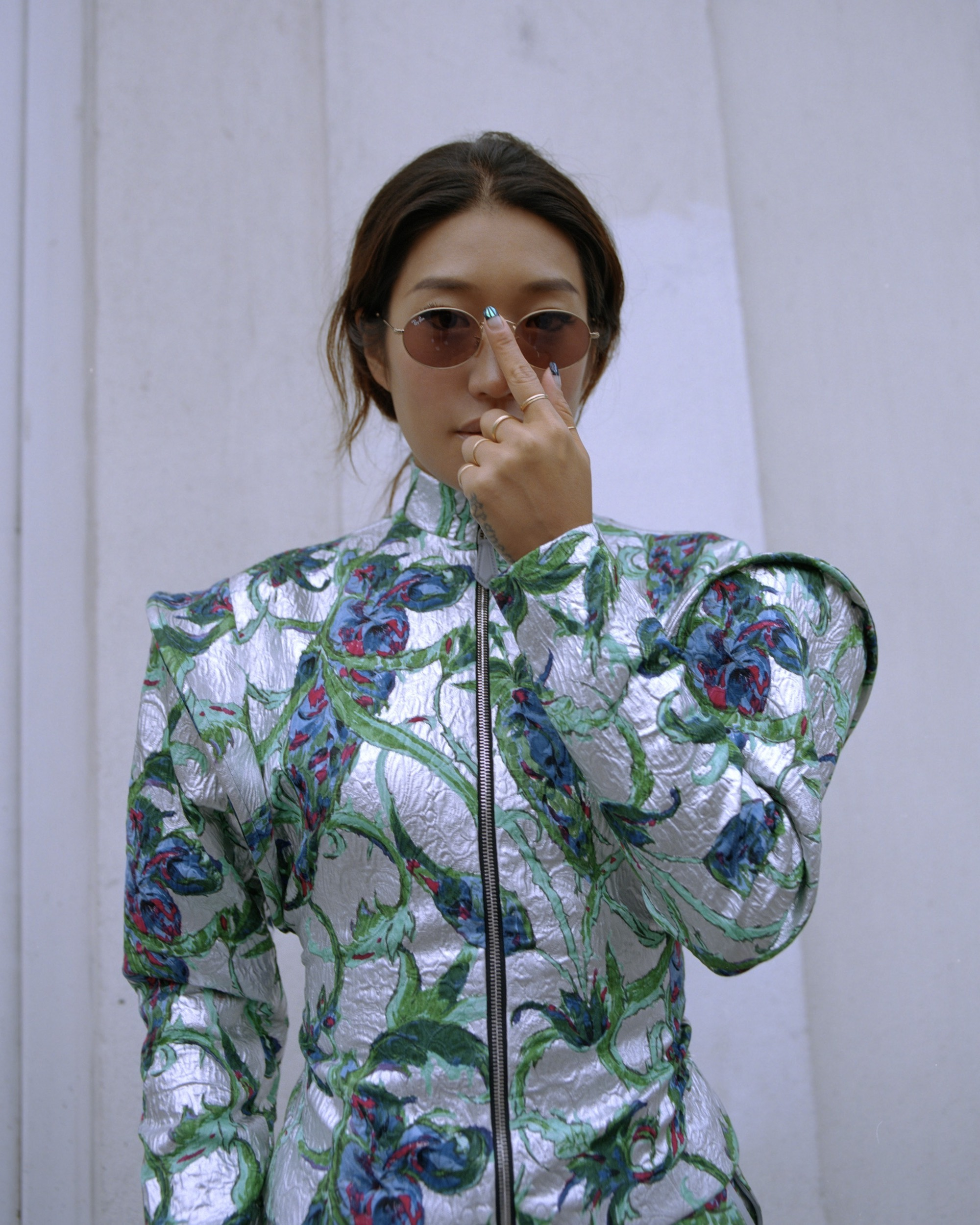 South Korean DJ Peggy Gou on the cover of Rollacoaster Spring/Summer 2019 in foil jacket