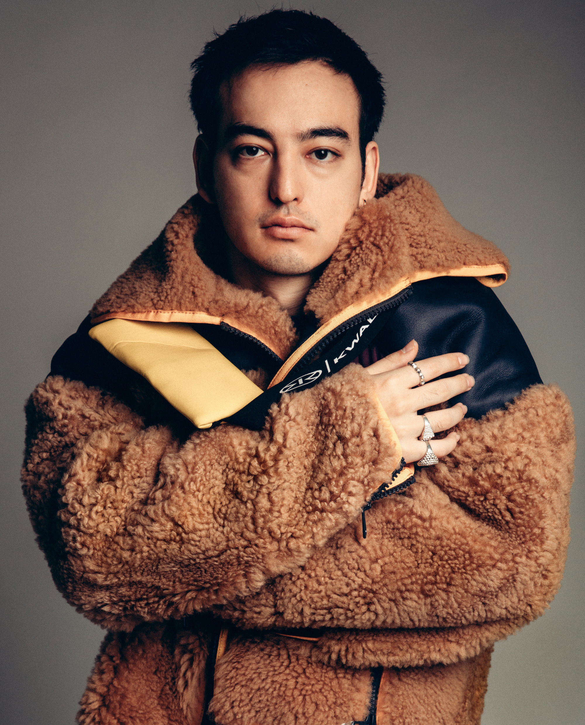 Youtuber and singer George Miller, aka Joji, from Spring 19 Wonderland issue brown jacker