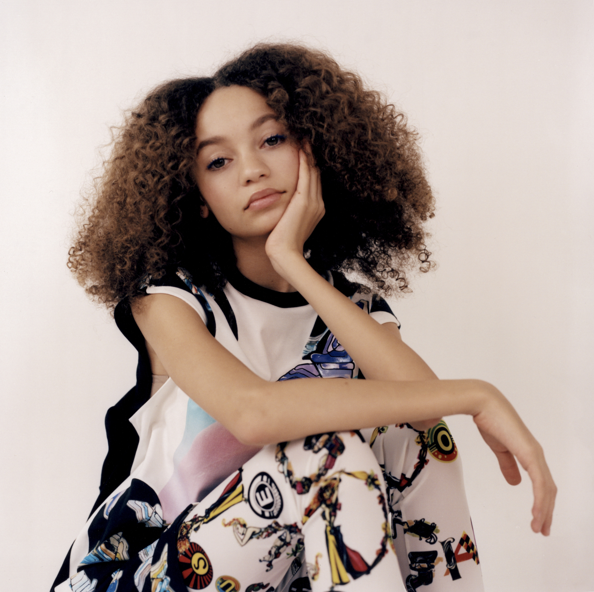 Thandie Newton's daughter Nico Parker, star of Dumbo in Wonderland's Spring 19 issue closeup
