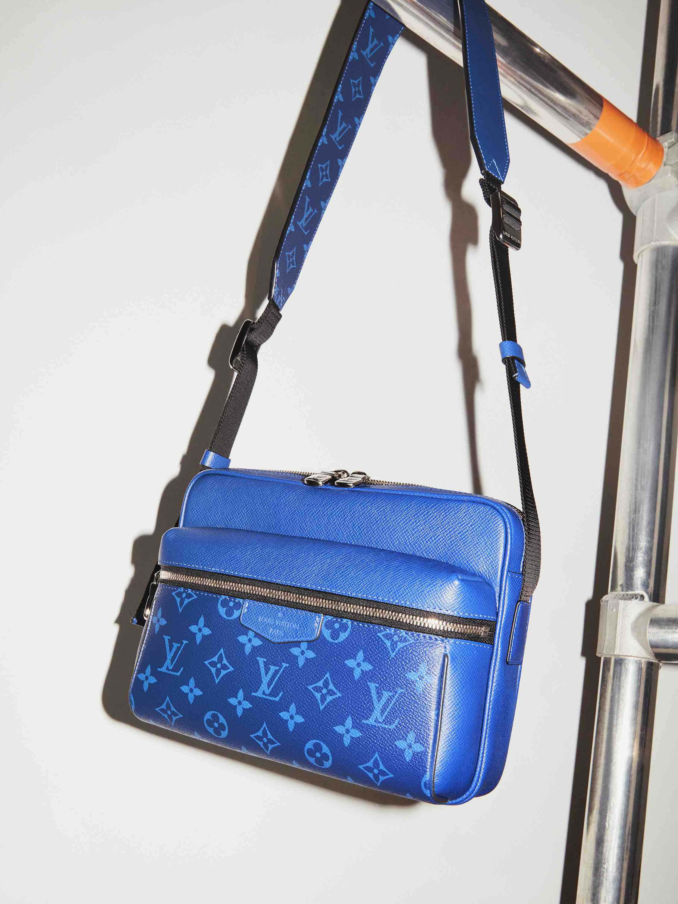 Louis Vuitton Taigarama Collection blue cross-body bag