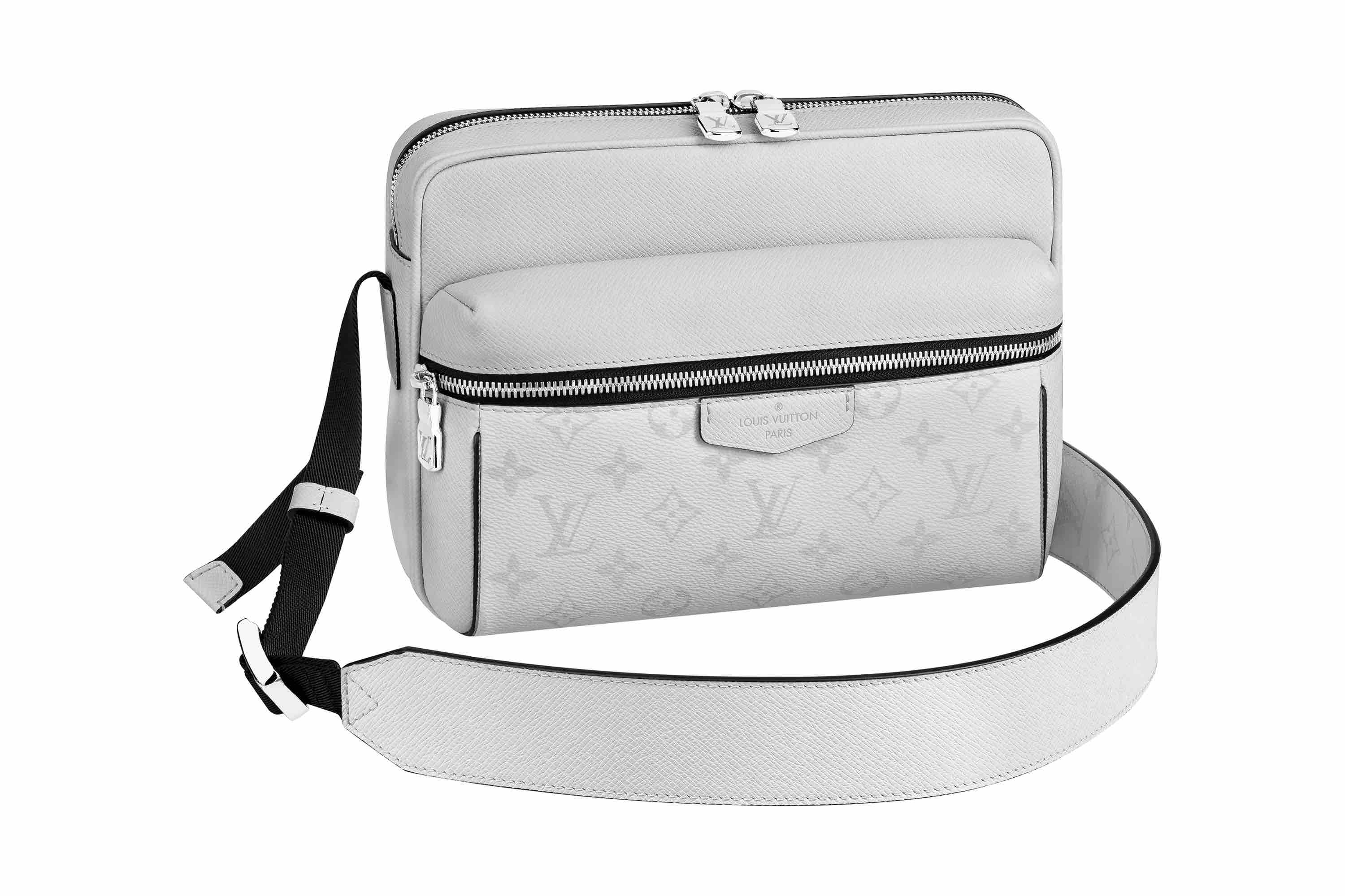 Louis Vuitton Taigarama Collection grey crossover bag