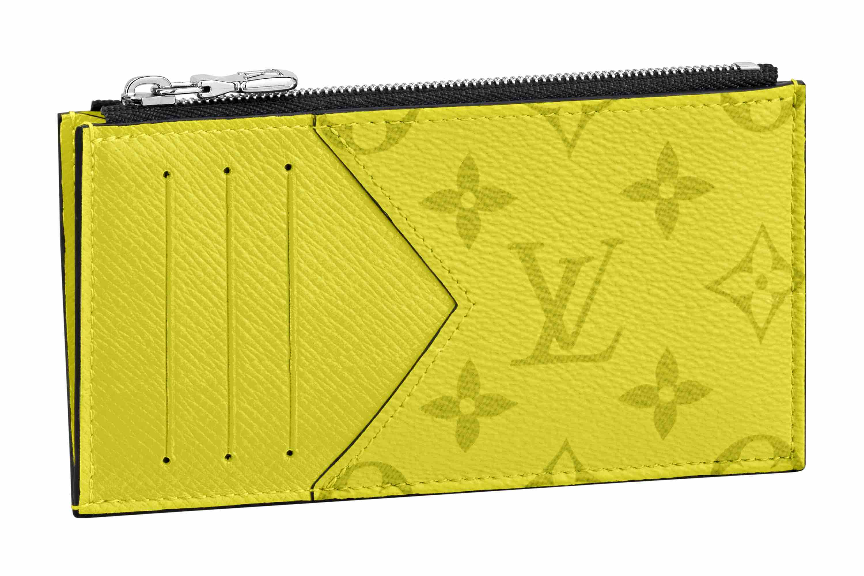 Louis Vuitton Taigarama Collection yellow card holder accessory