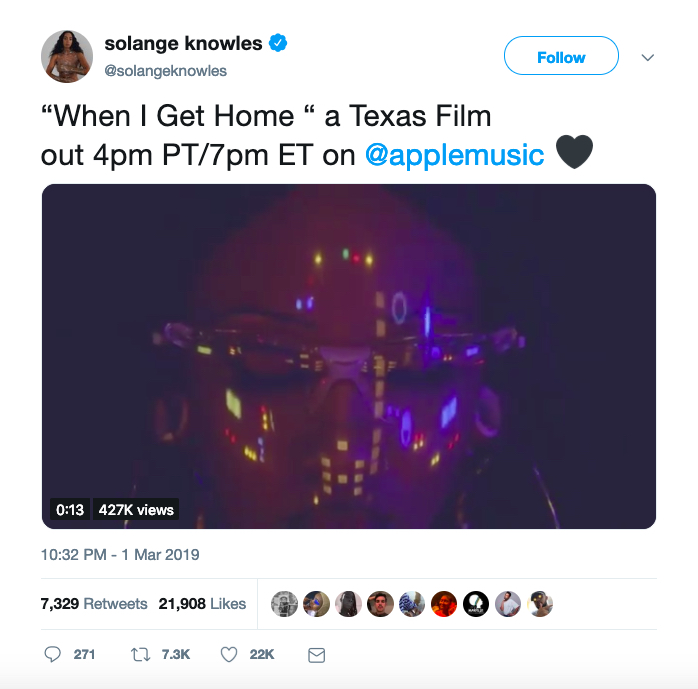 Solange When I Get Home album film