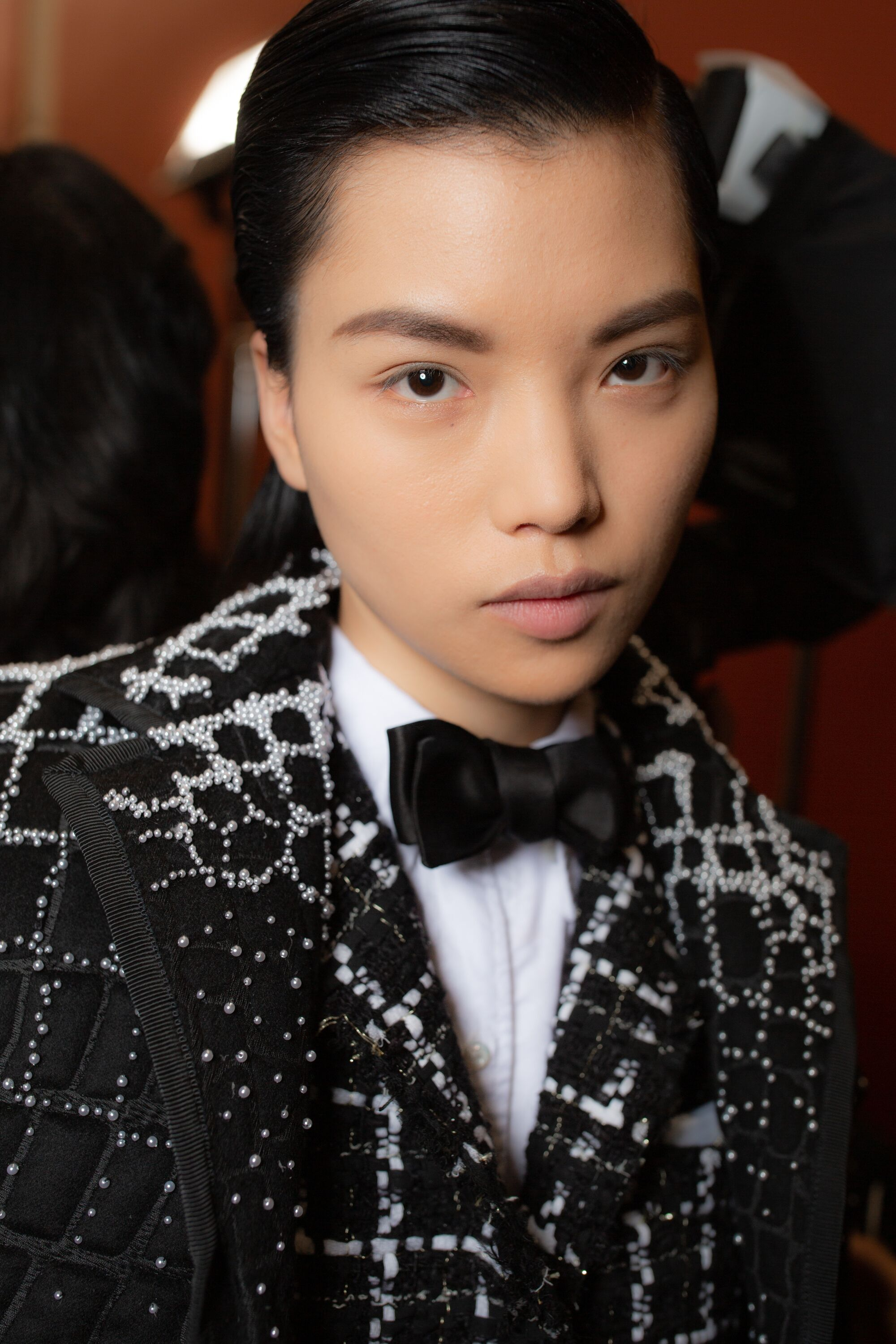 Thom Browne embellished tailored coat bow tie aw19