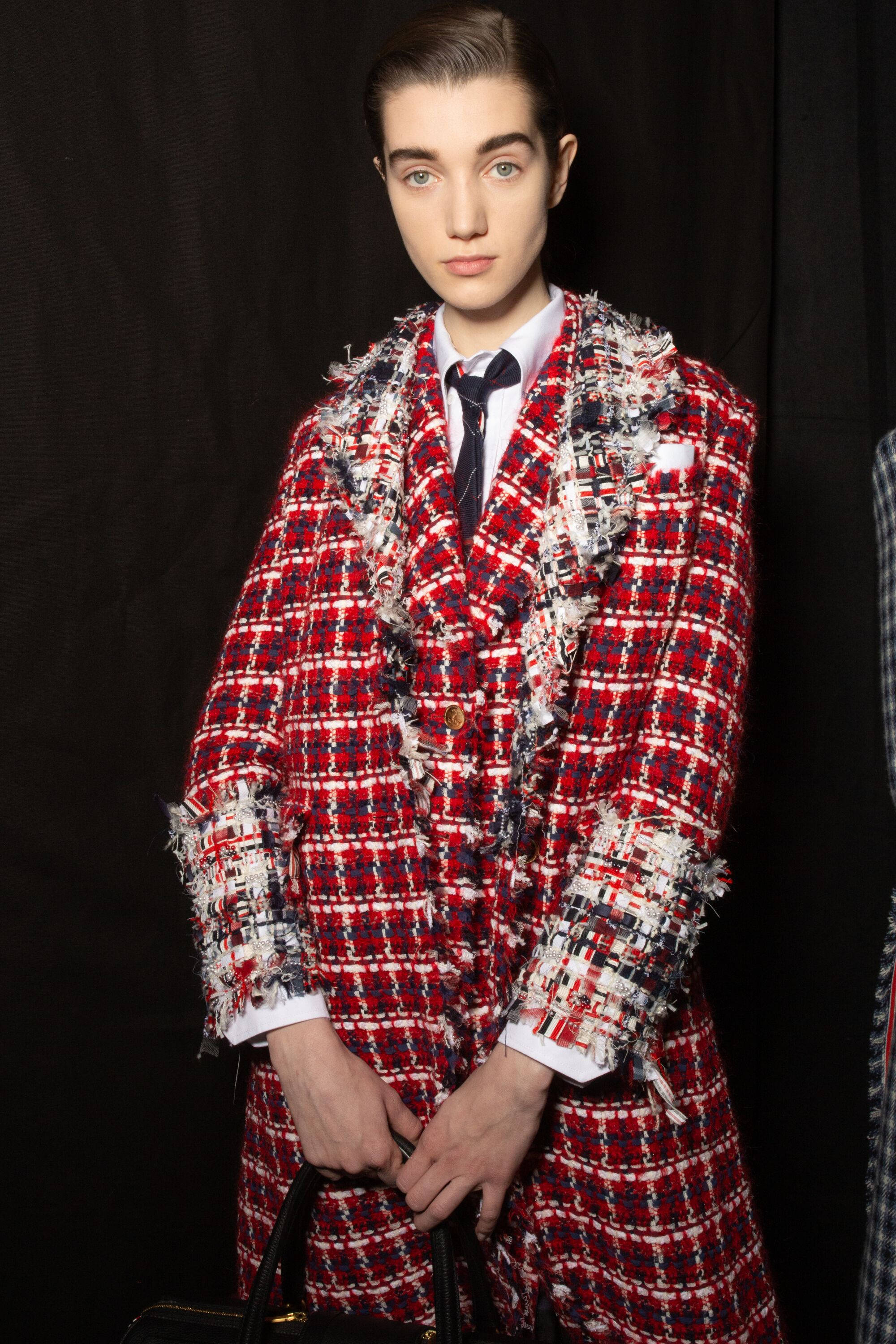 Thom Browne red check tailored jacket aw19