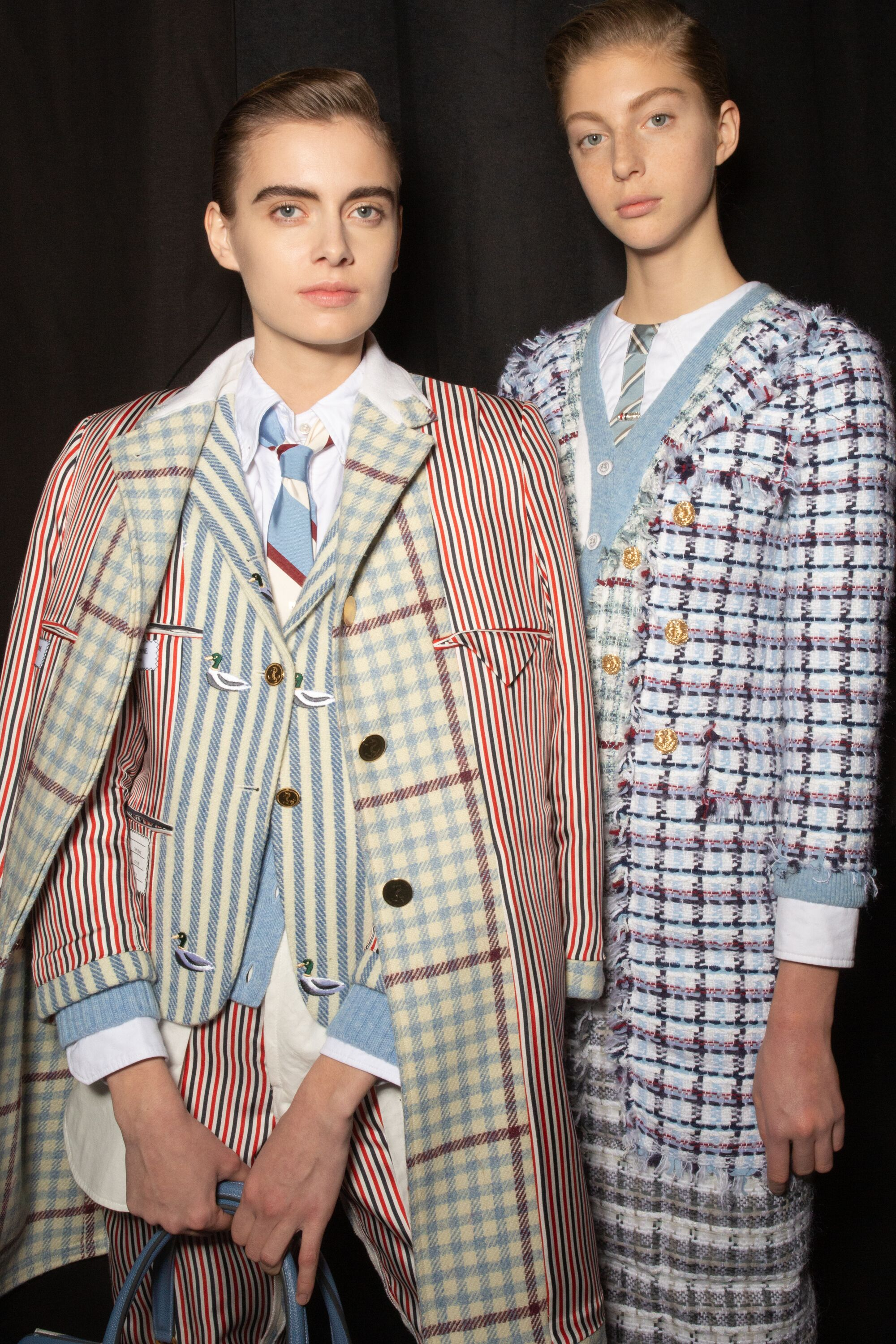 Thom Browne patterned suits aw19 pfw