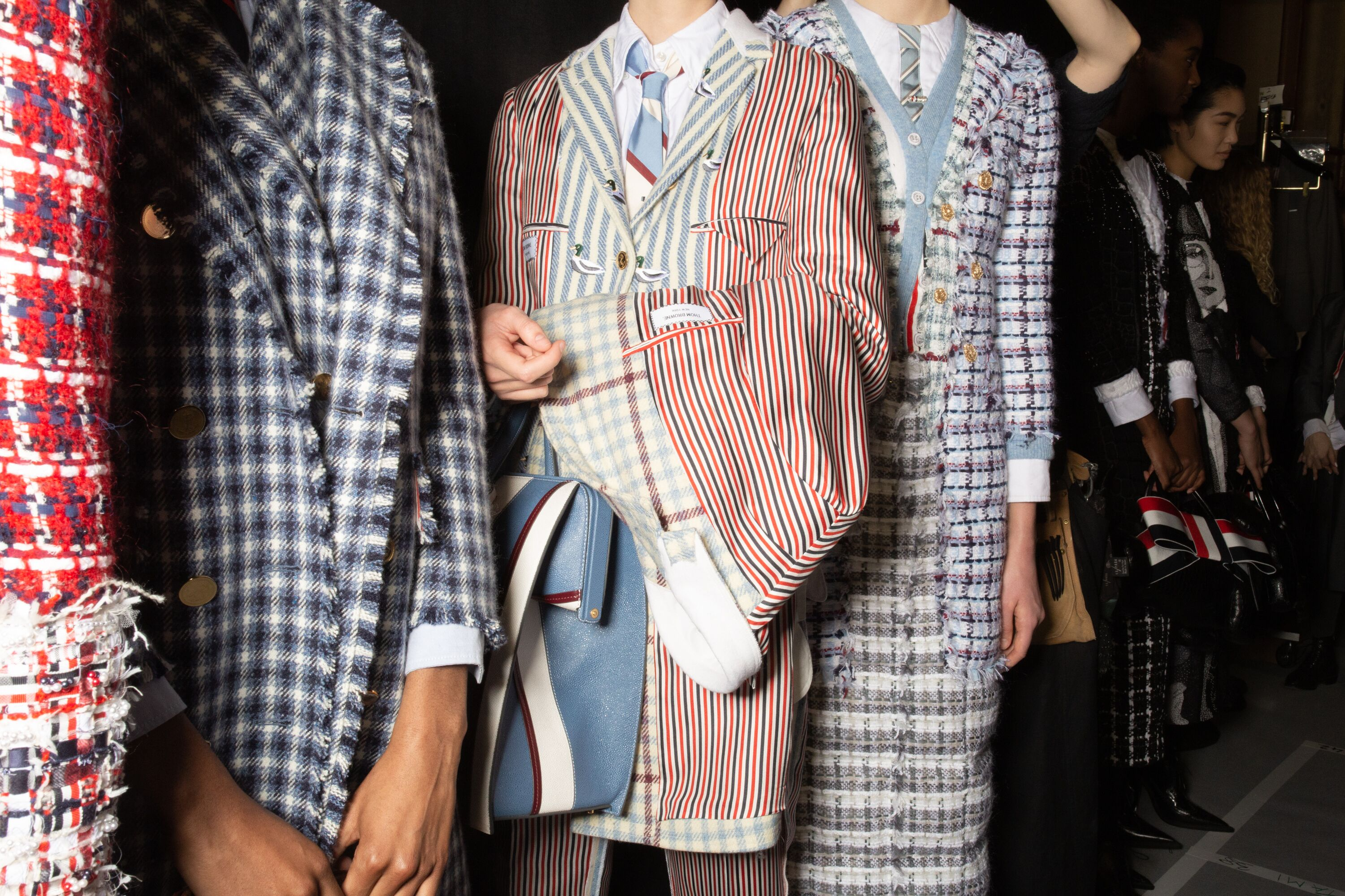 Thom Browne paris fashion week striped suit dress aw19