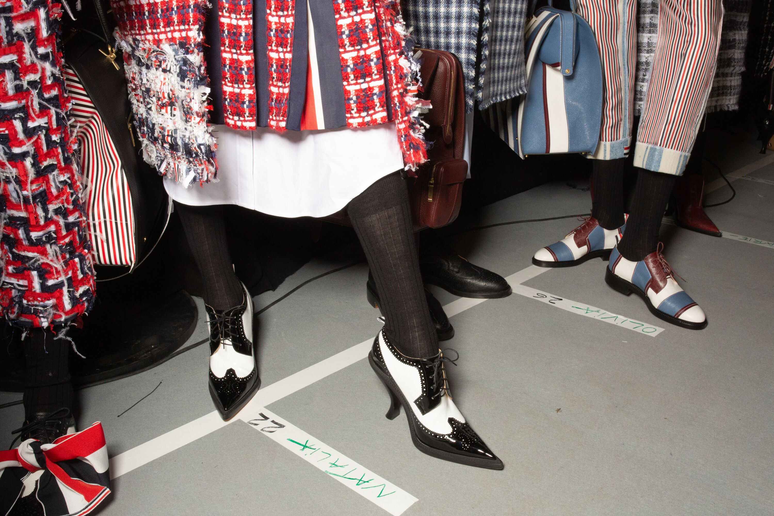 Thom Browne paris fashion week pointed heeled ankle boots
