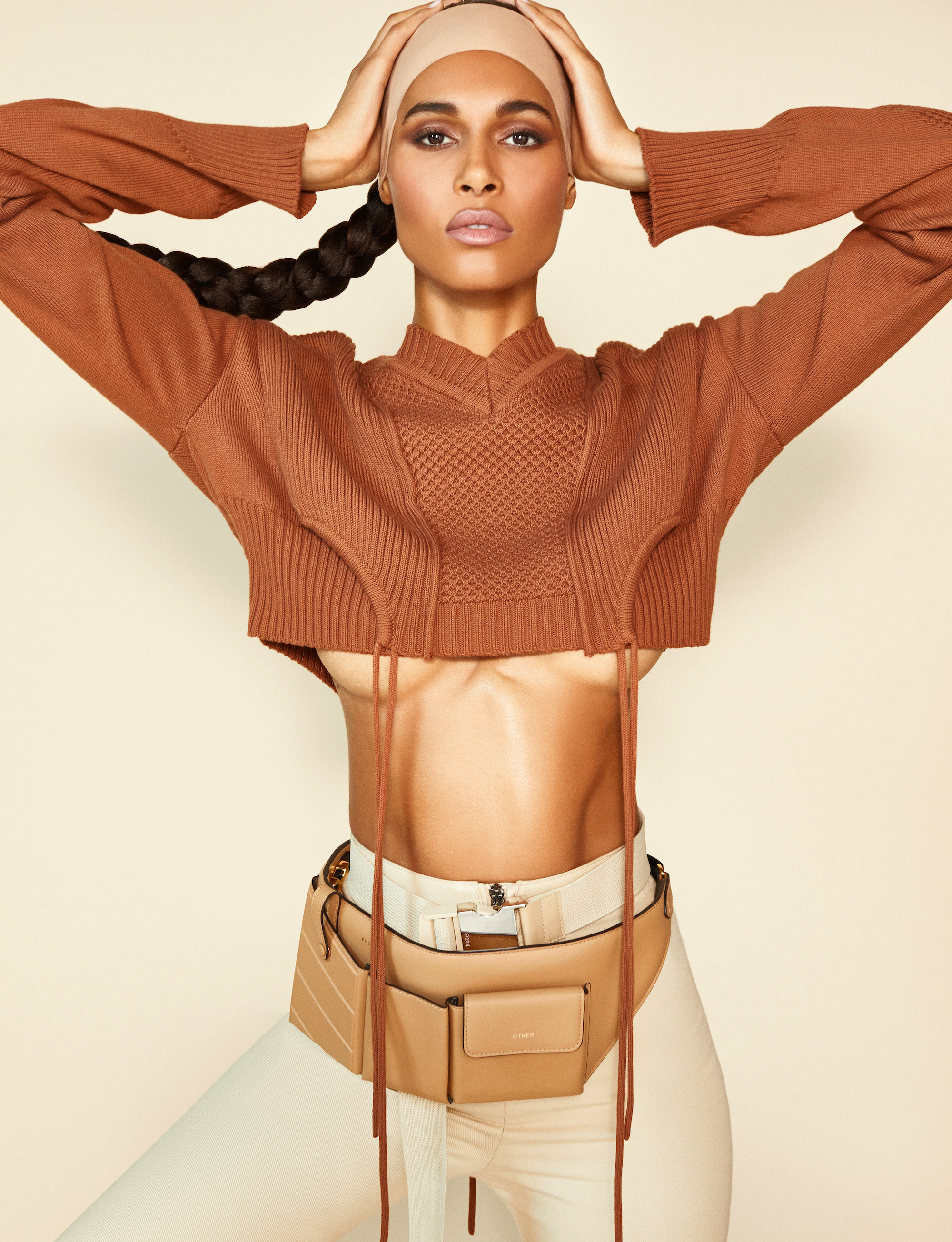 Cindy Bruna in Fendi for the Spring 19 issue in crop top