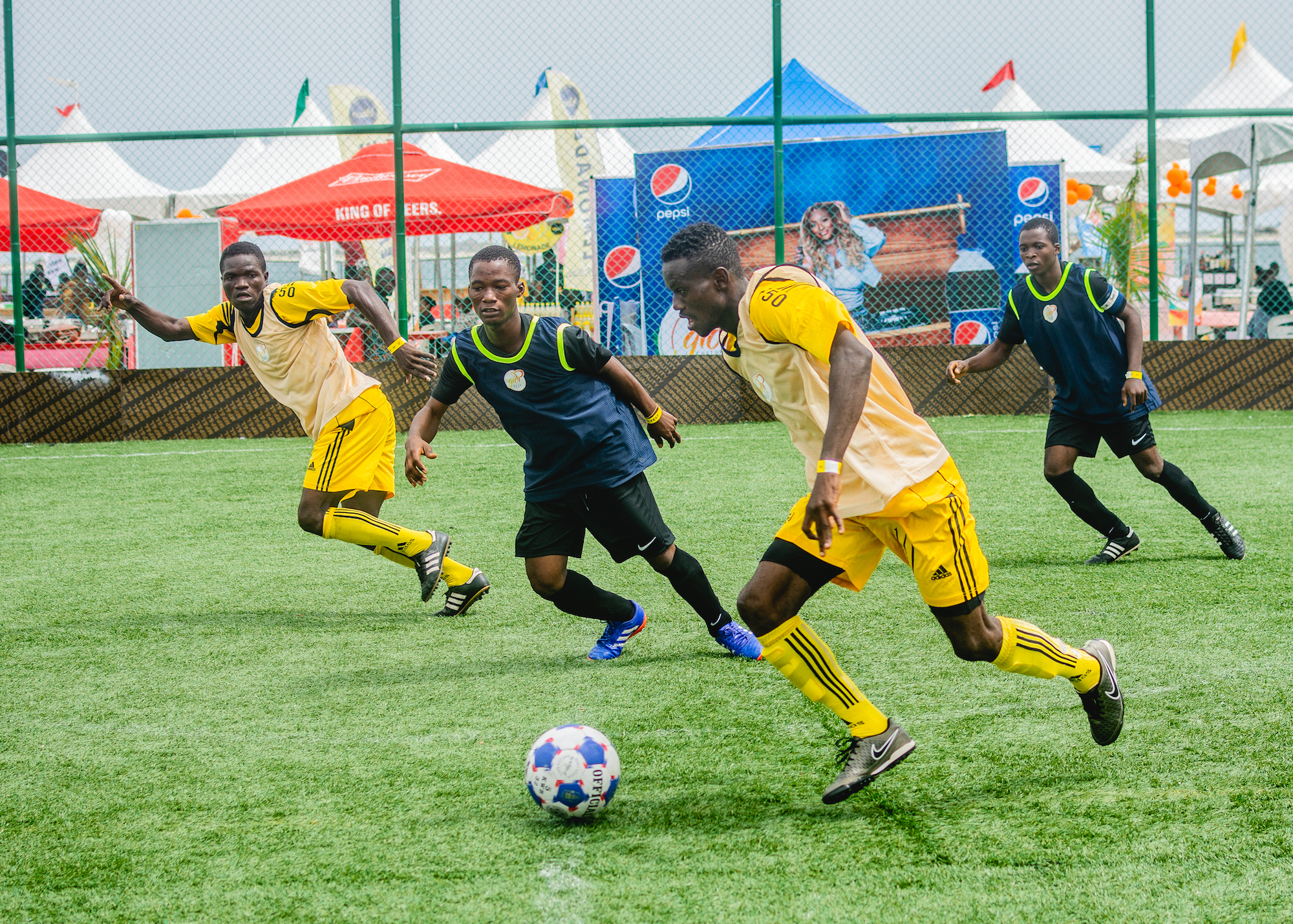 Gidi Culture Festival in Lagos crowd football