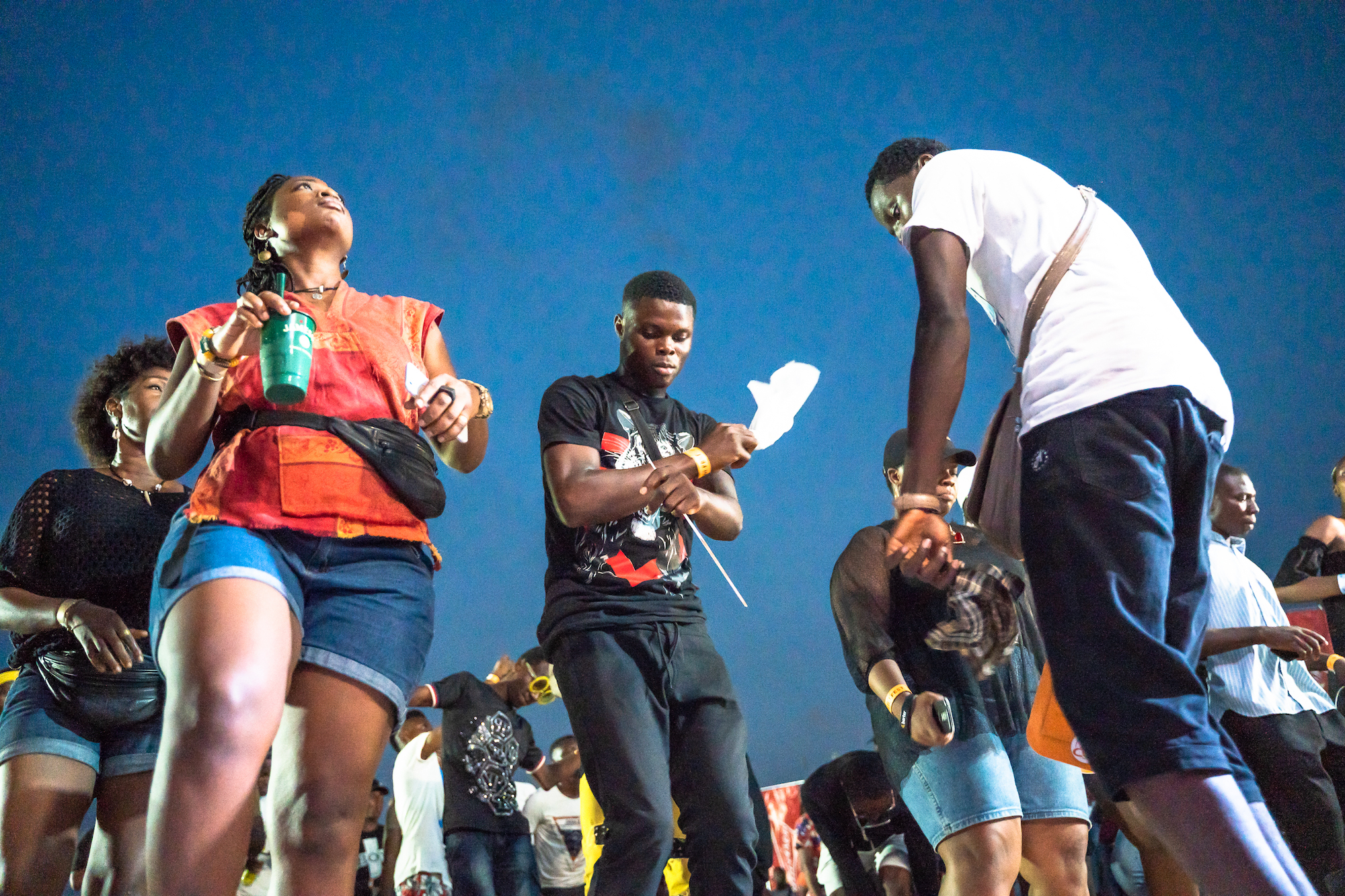 Gidi Culture Festival in Lagos crowd dancing