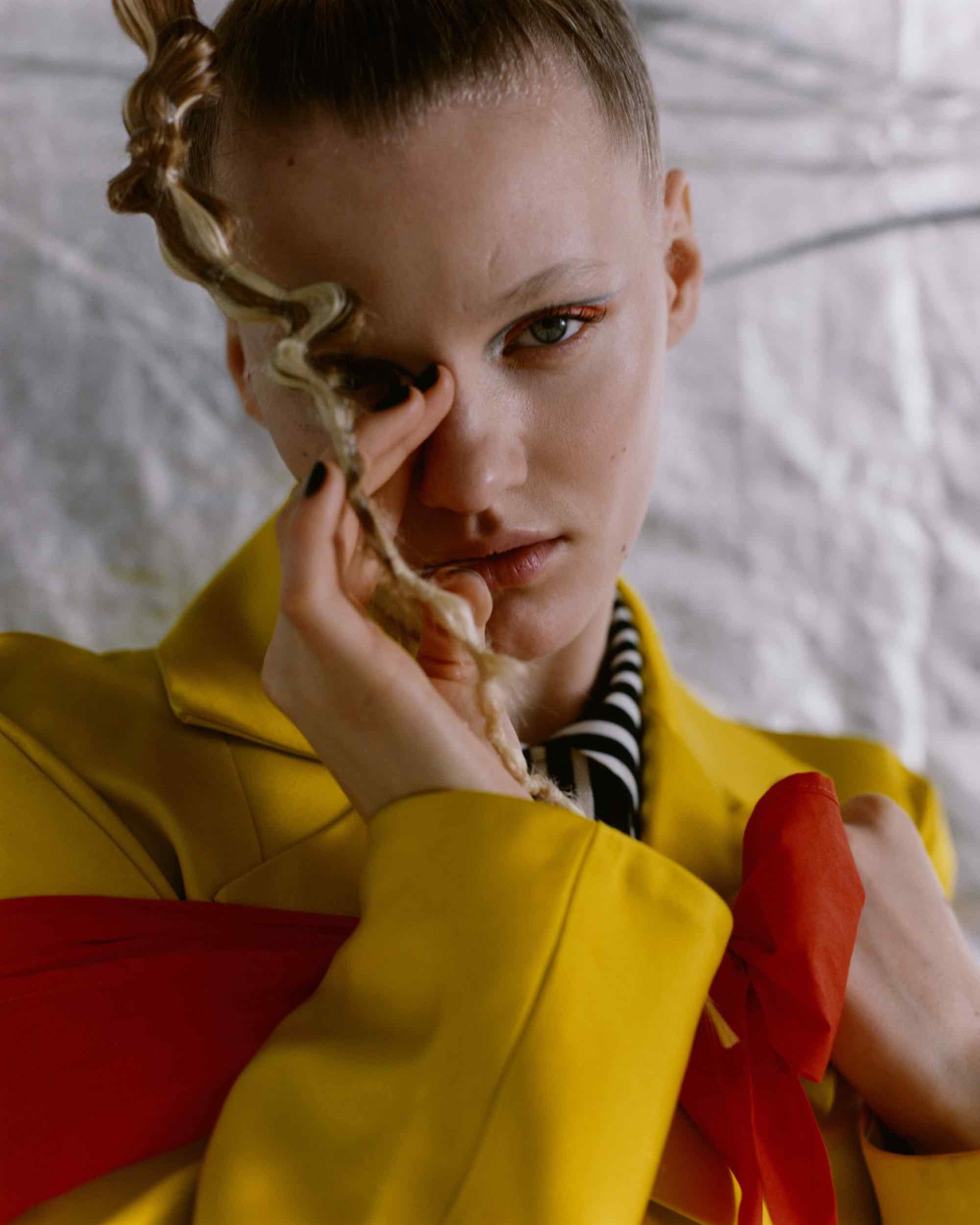 Intergalactic editorial from Spring 19 issue of Wonderland hair plait