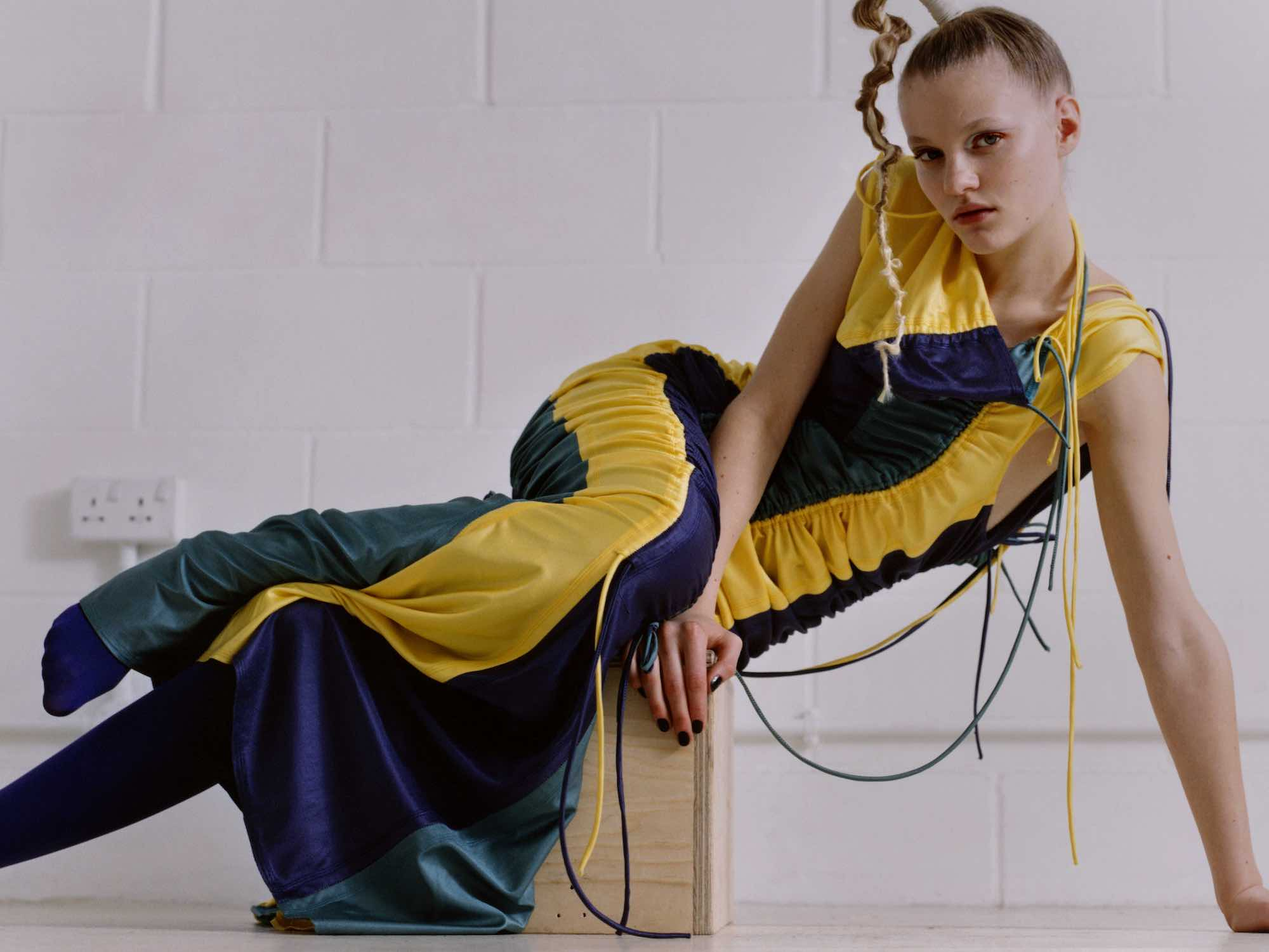 Intergalactic editorial from Spring 19 issue of Wonderland yellow dress