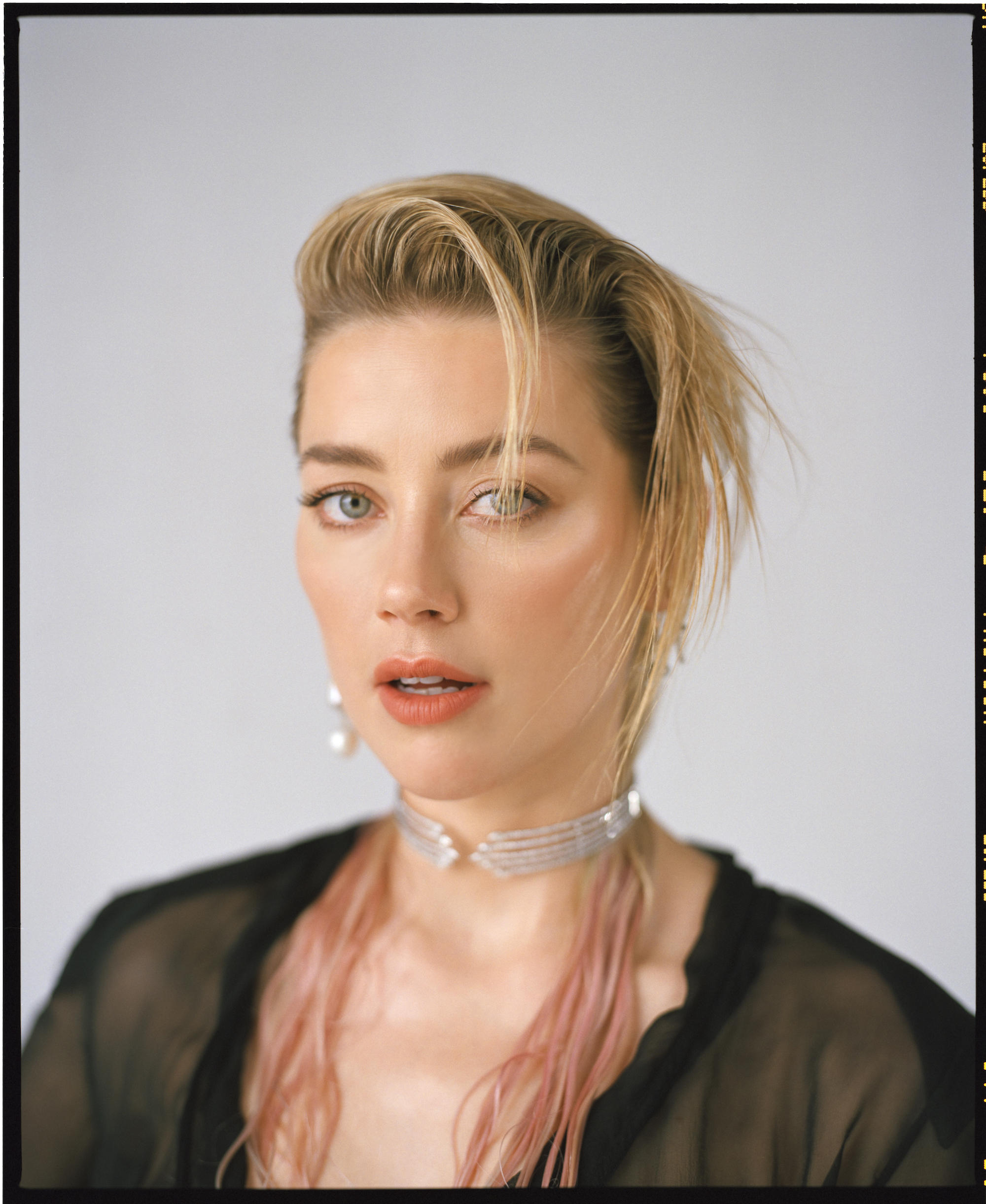 Actress Amber Heard on the cover of Spring 19 issue of Wonderland black top