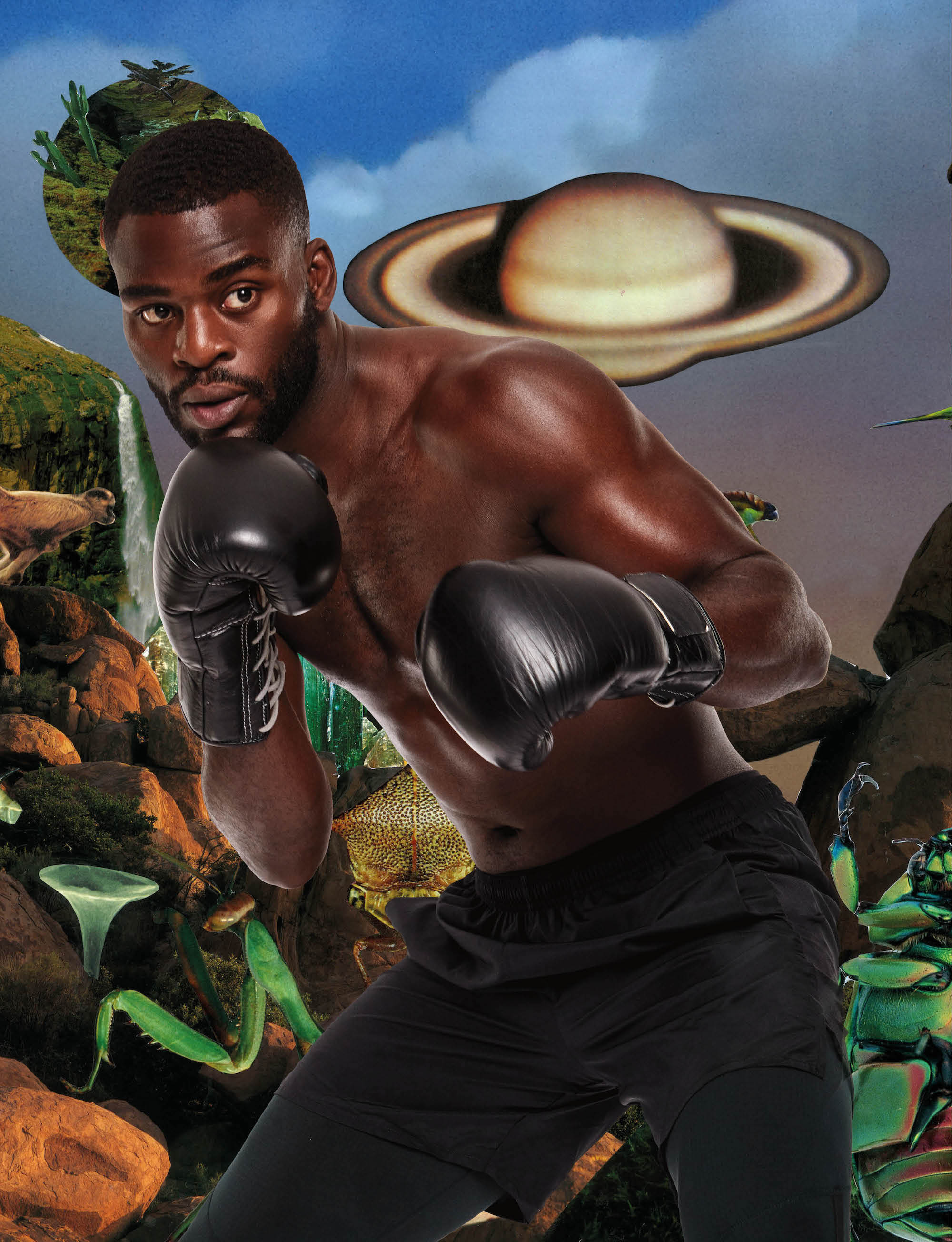 Nike approved boxer Joshua Buatsi from Spring 19 issue of Wonderland topless