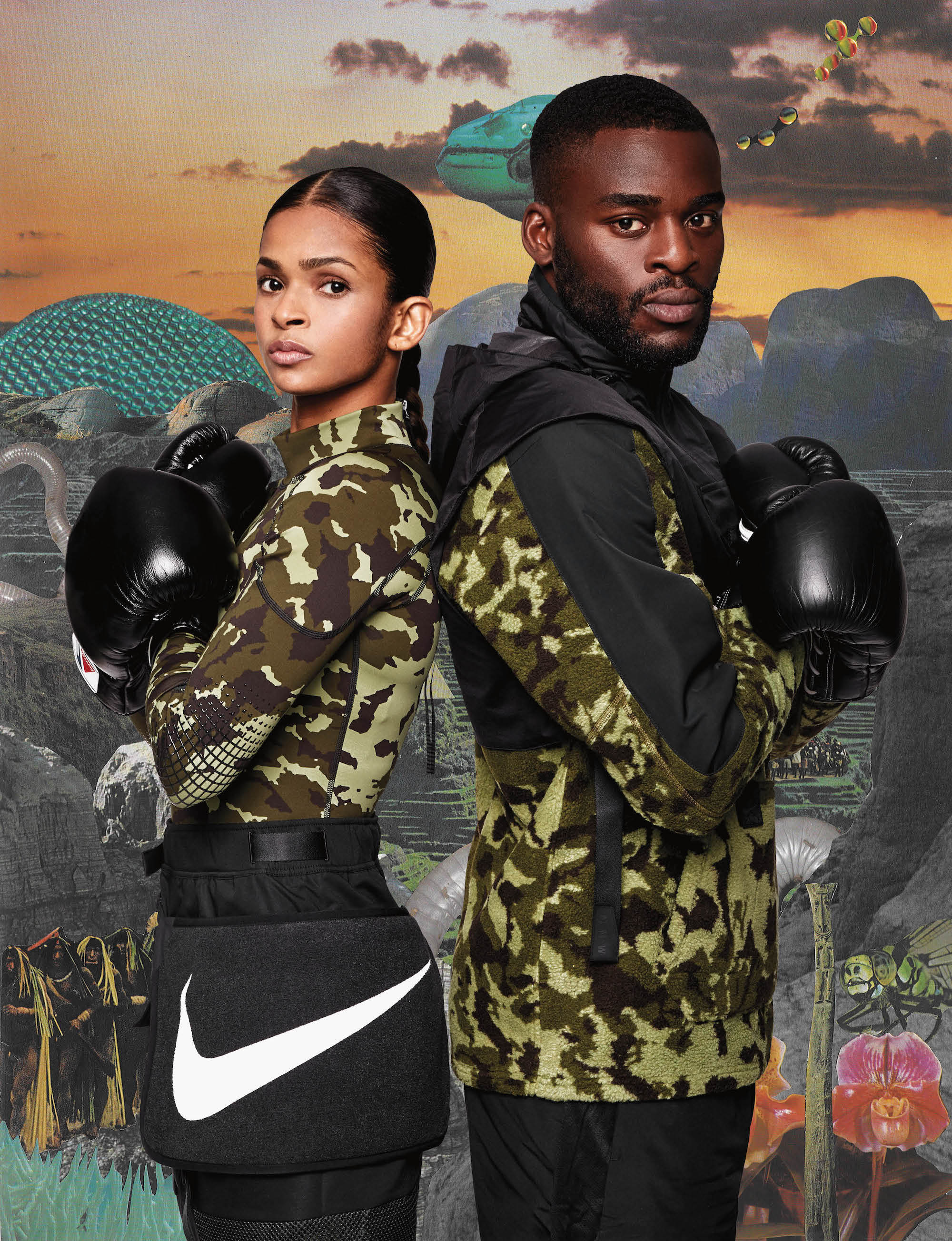 Nike approved boxer Ramla Ali and Joshua Buatsi from Spring 19 issue of Wonderland back to back