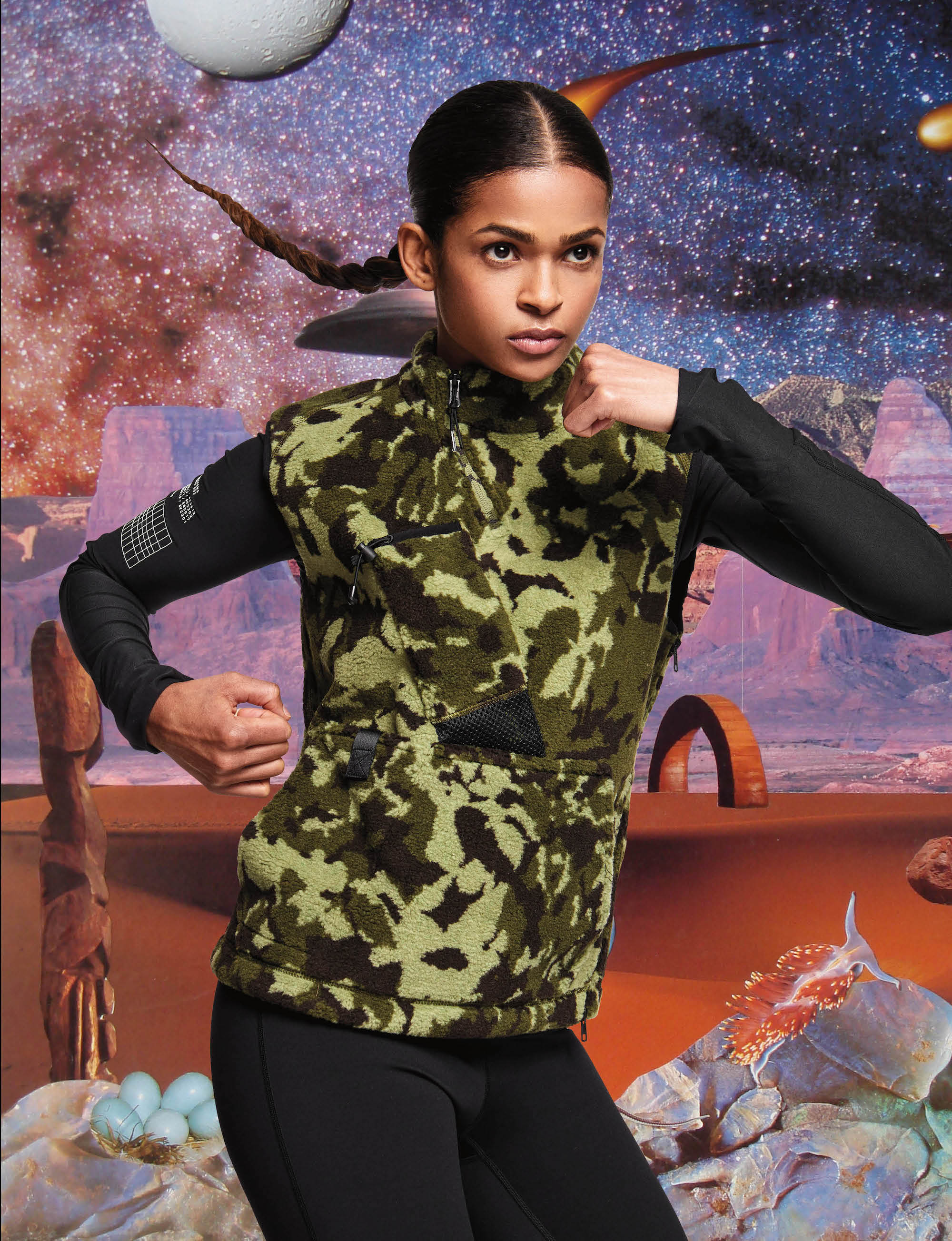 Nike approved boxer Ramla Ali from Spring 19 issue of Wonderland running