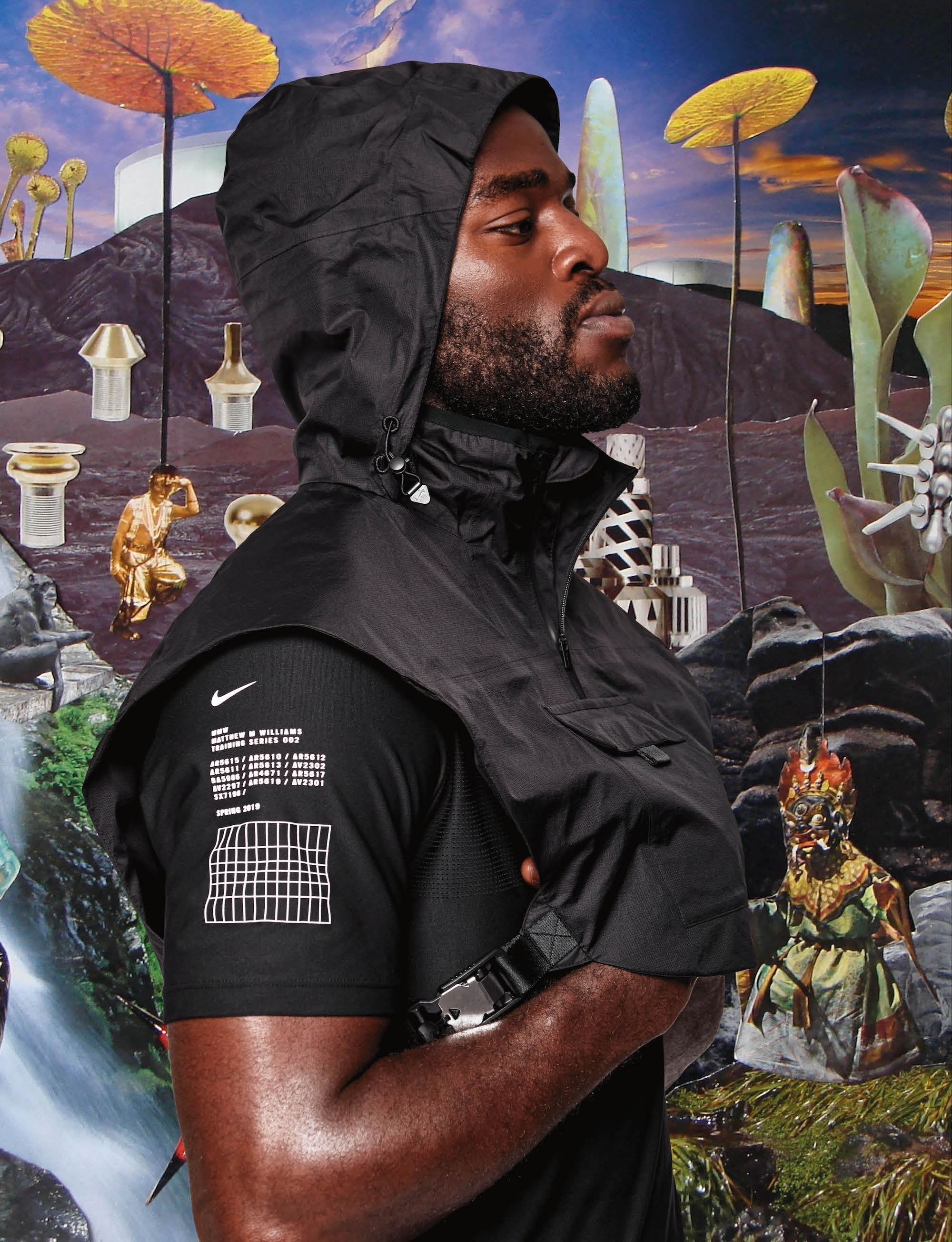 Nike approved boxer Joshua Buatsi from Spring 19 issue of Wonderland closeup