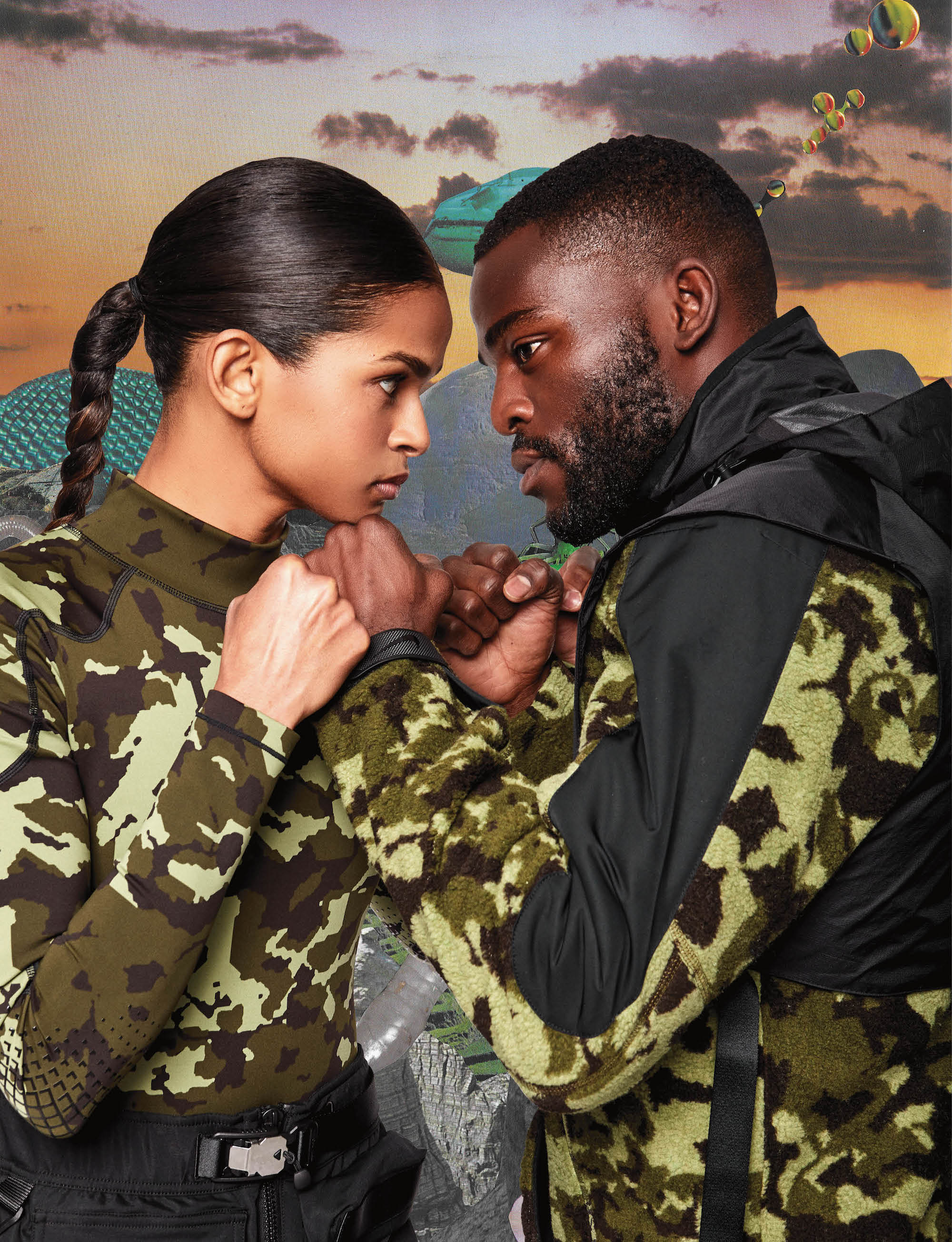 Nike approved boxer Ramla Ali and Joshua Buatsi from Spring 19 issue of Wonderland face off